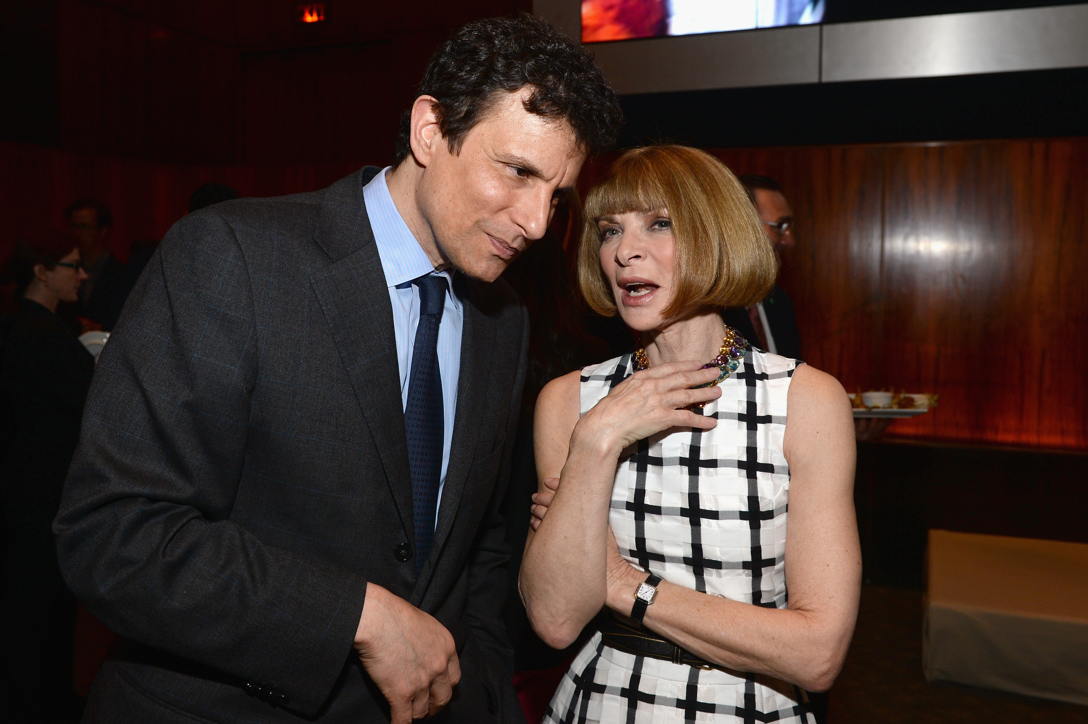 New Yorker editor David Remnick and Vogue editor Anna Wintour.