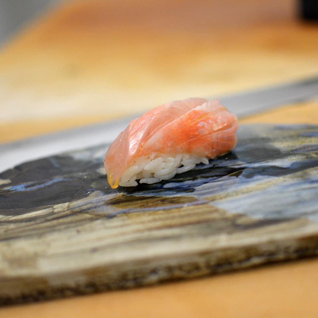 A piece of sushi from Kyoten Sushiko