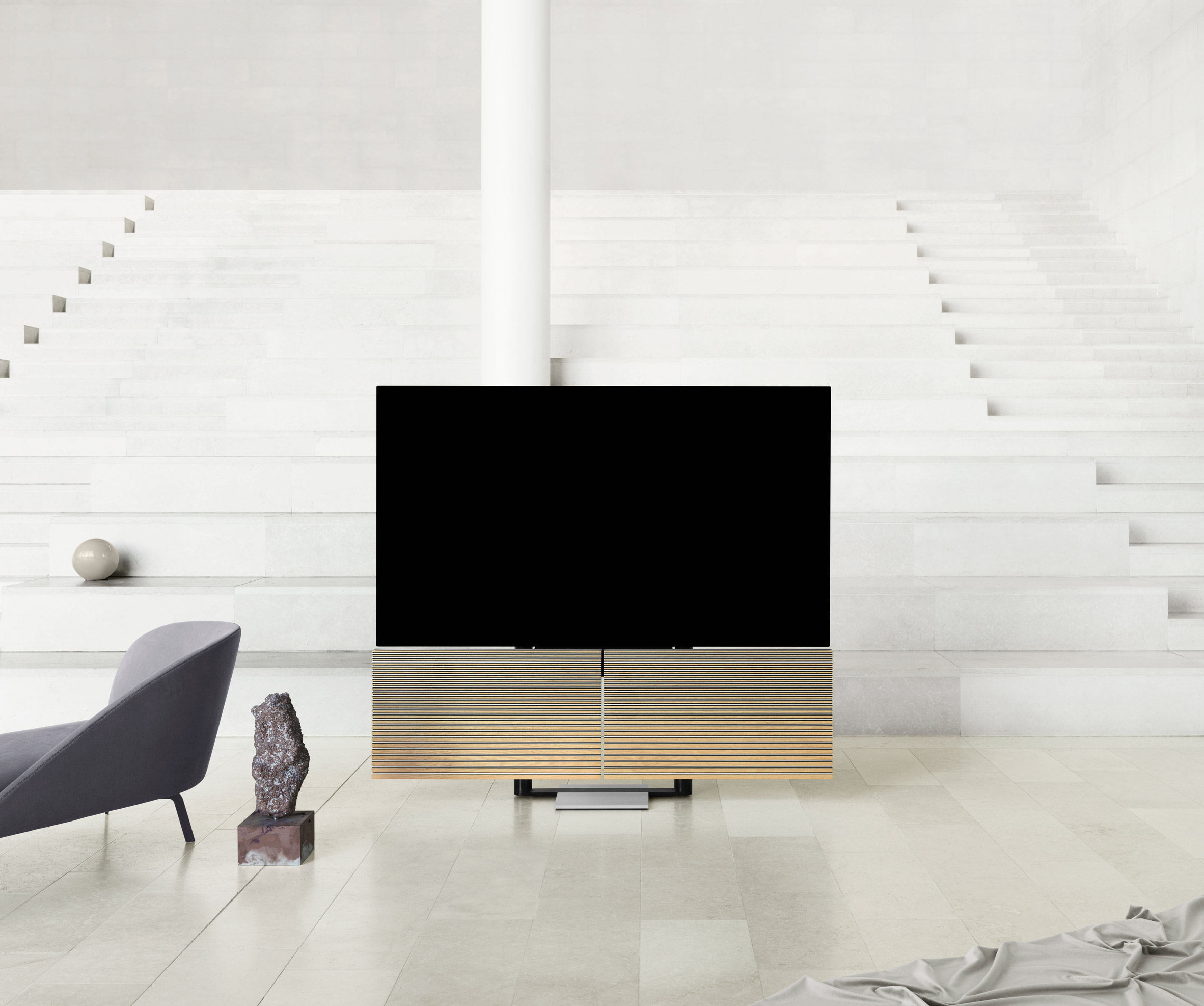 television with speaker wings