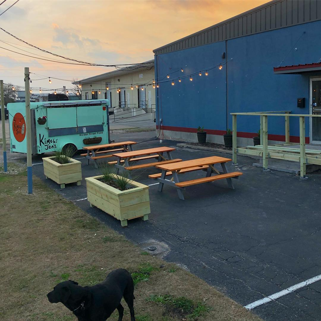 The patio at Nomadic Beerworks