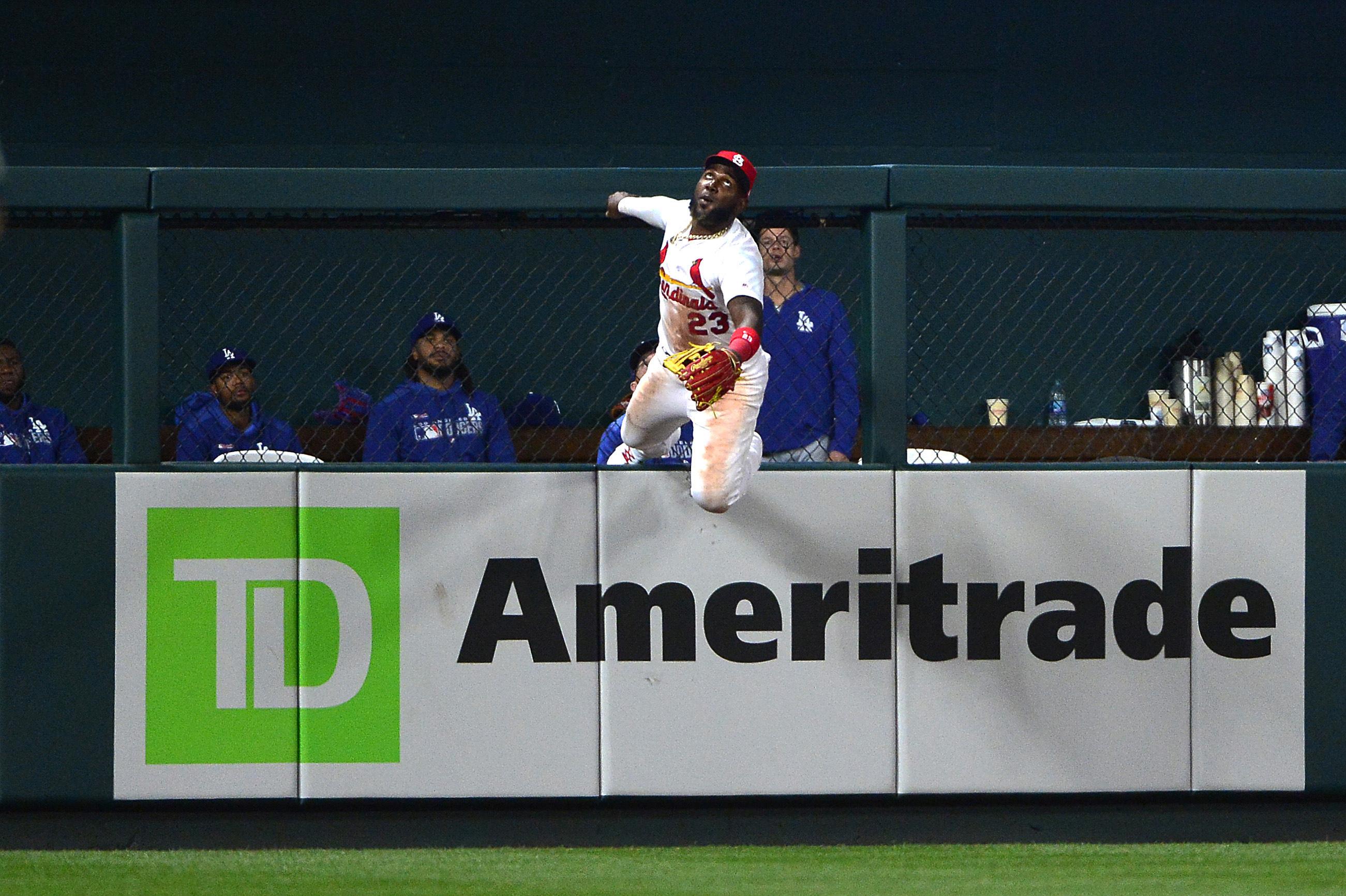美国职业棒球大联盟:洛杉矶道奇队对圣路易斯红雀队