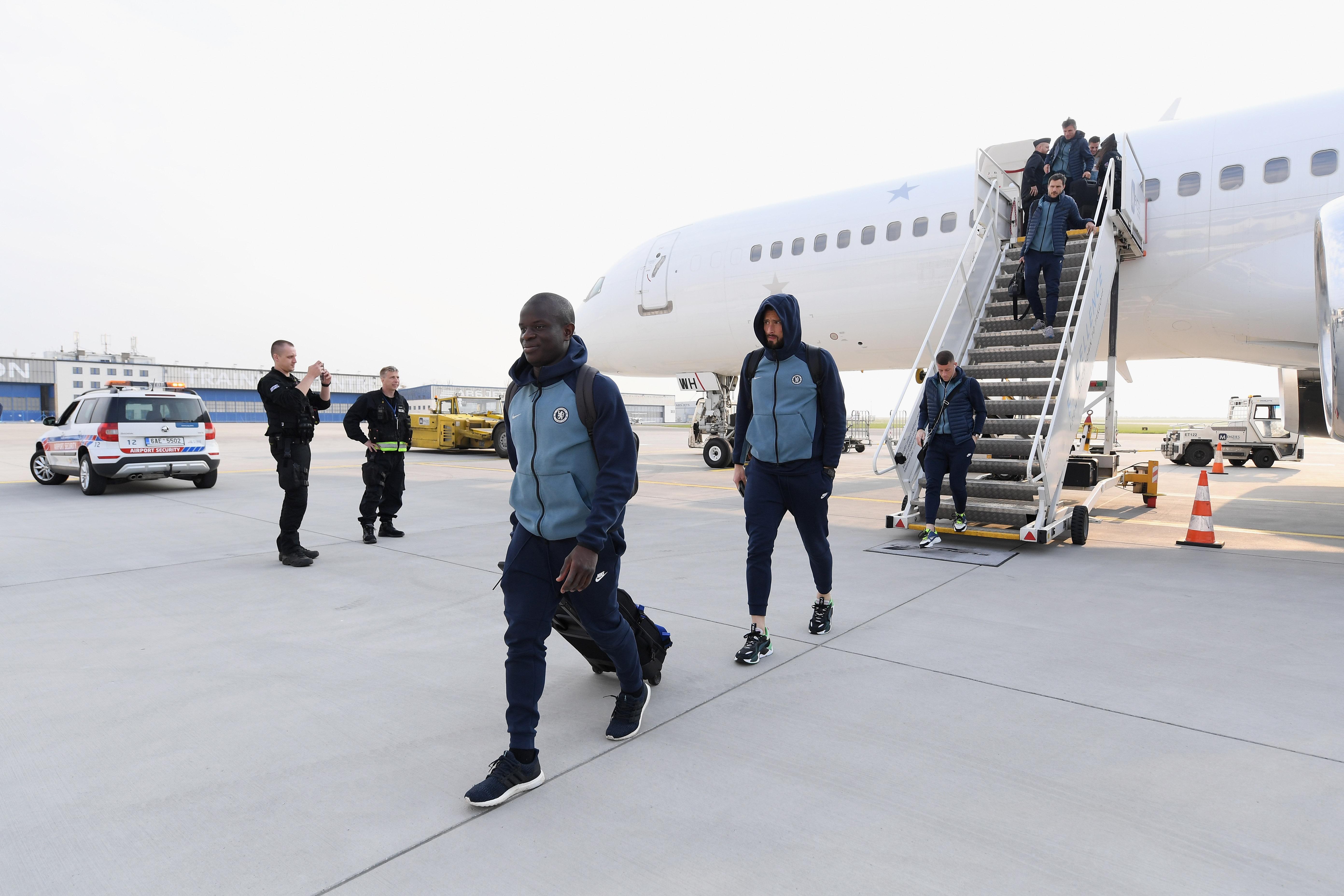 Chelsea take full squad to Prague for Europa League quarterfinal, first leg