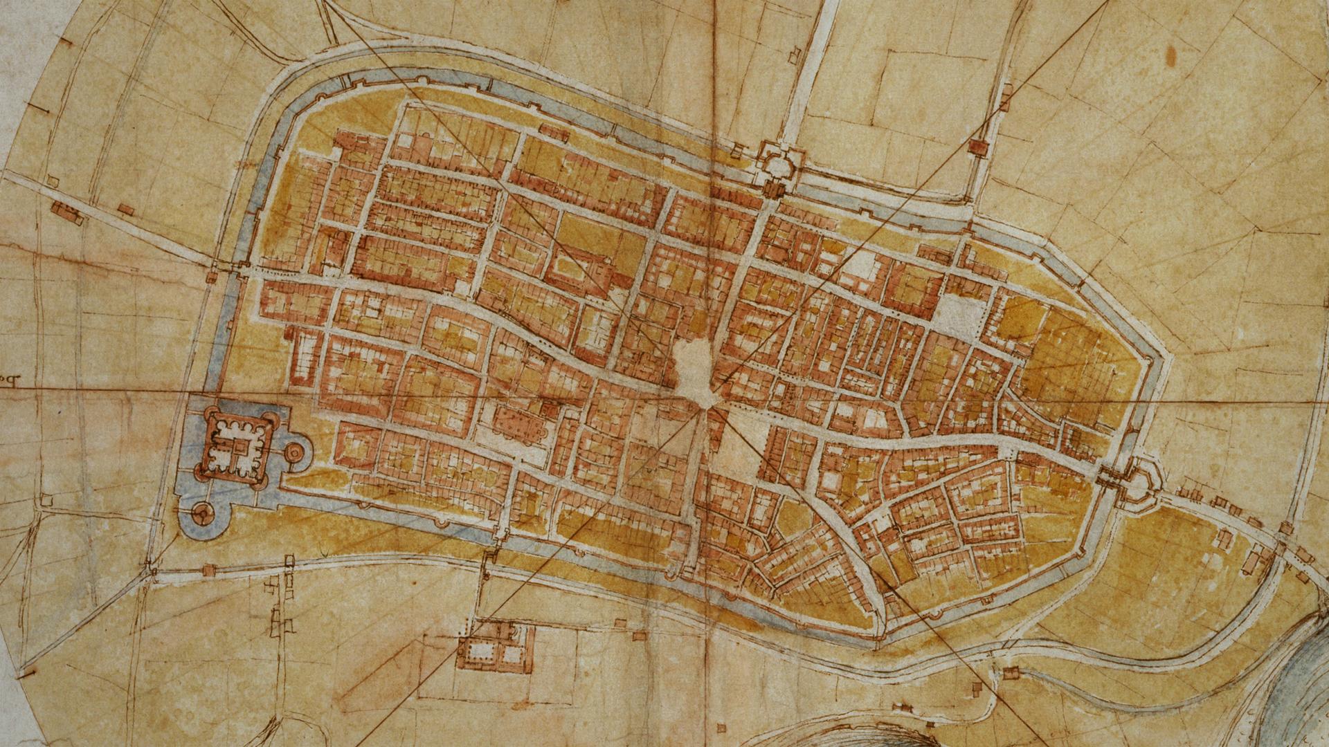 Leonardo's map of Imola