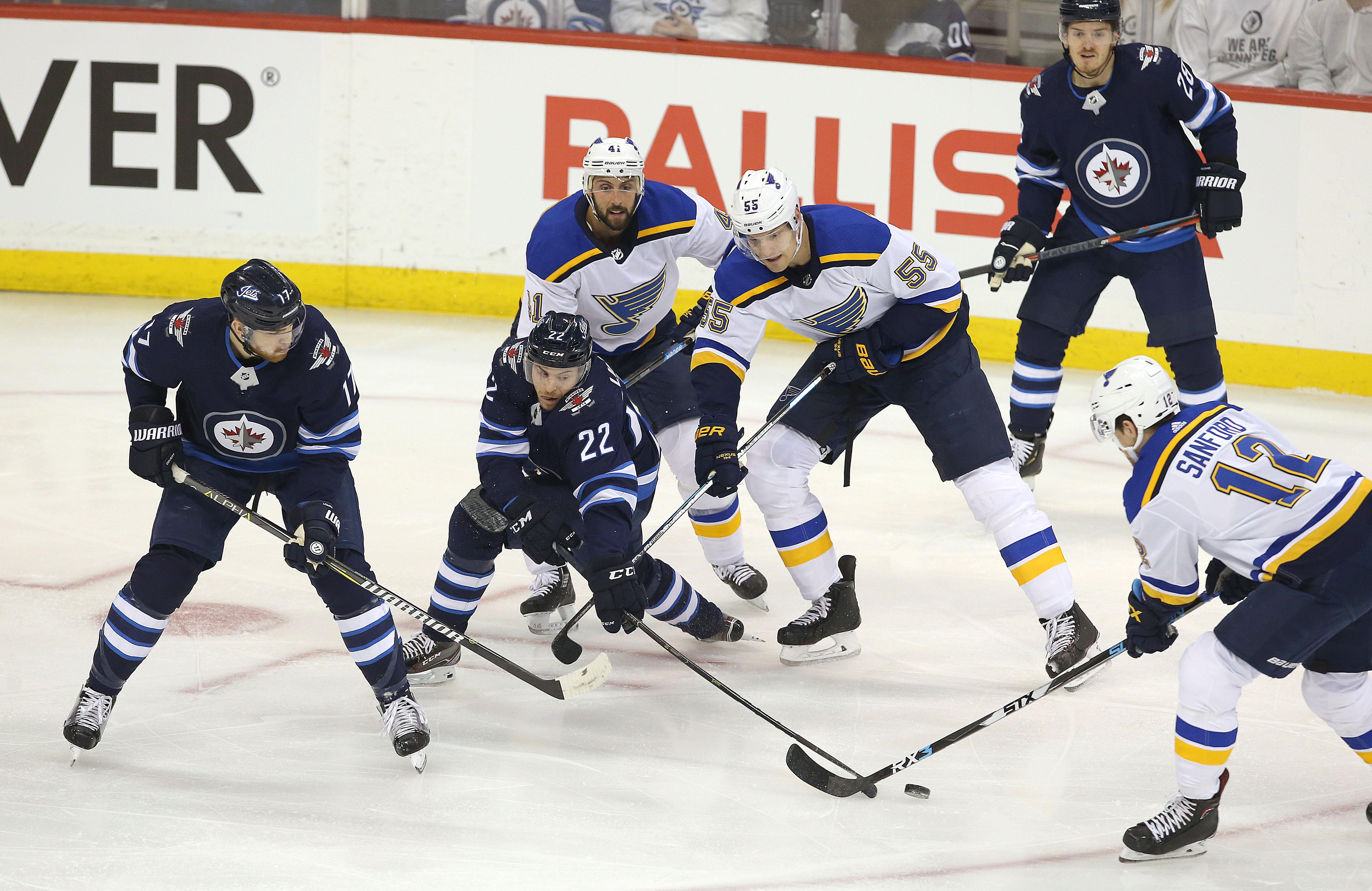 St Louis Blues v Winnipeg Jets - Game One