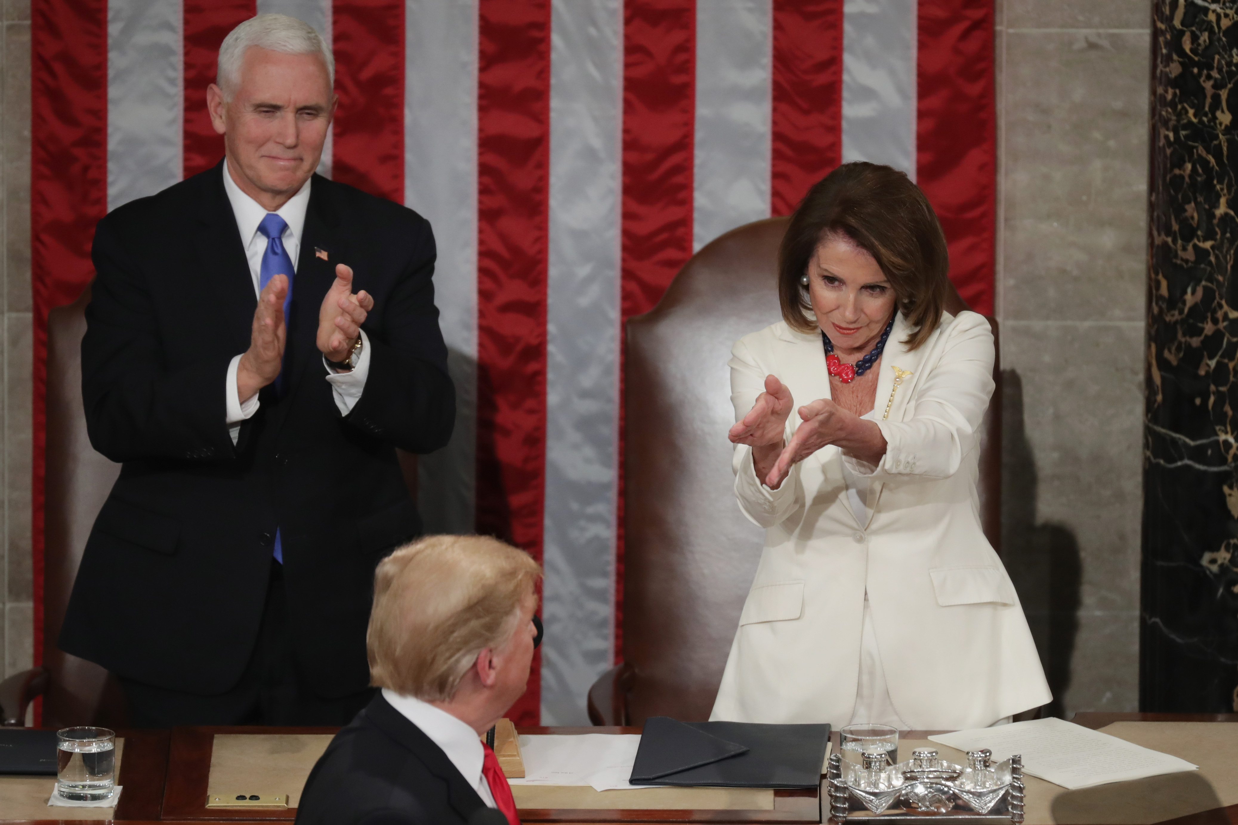 Speaker of the House Nancy Pelosi at President Trump's 2019 State of the Union address.