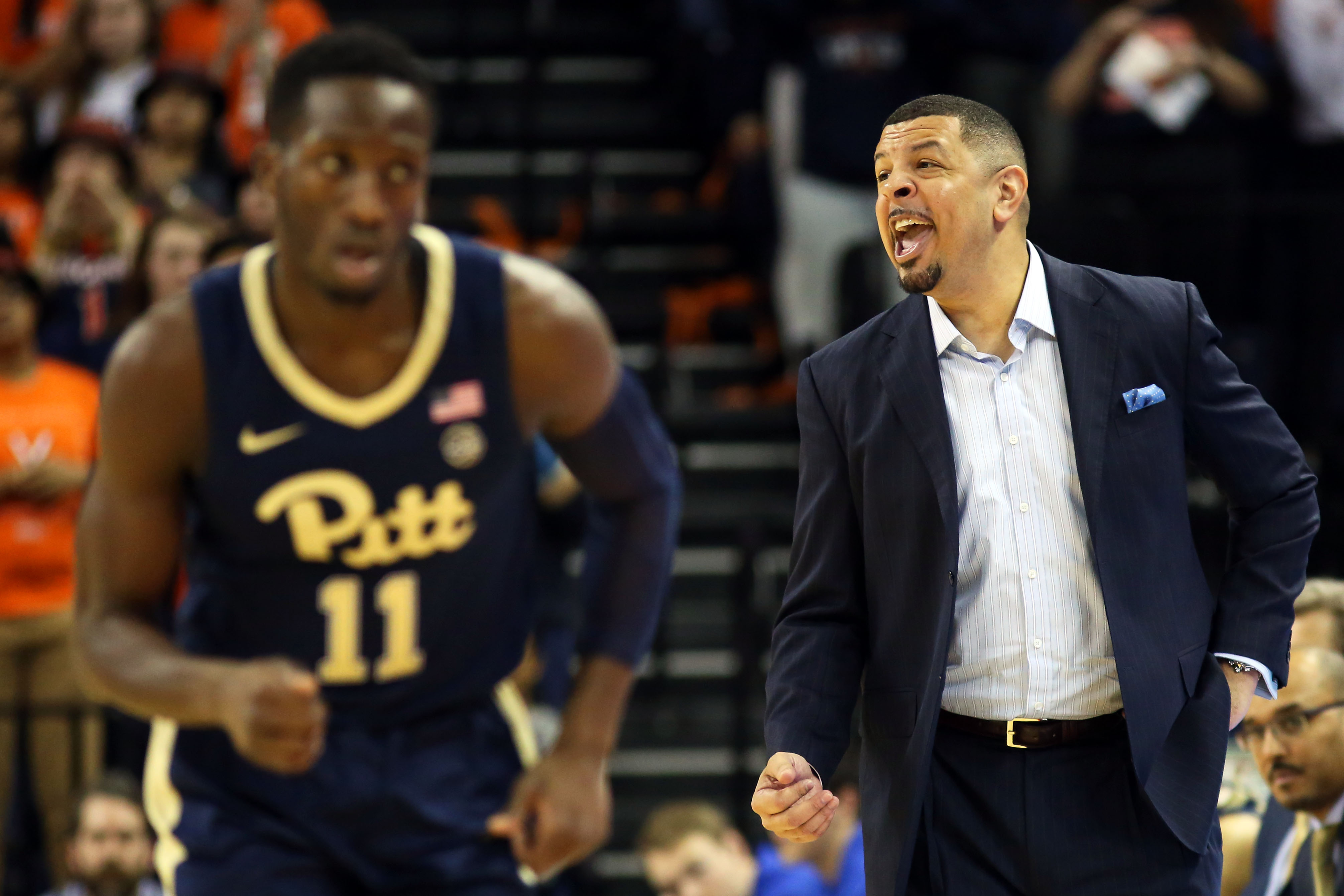 Sidy N'Dir and Jeff Capel
