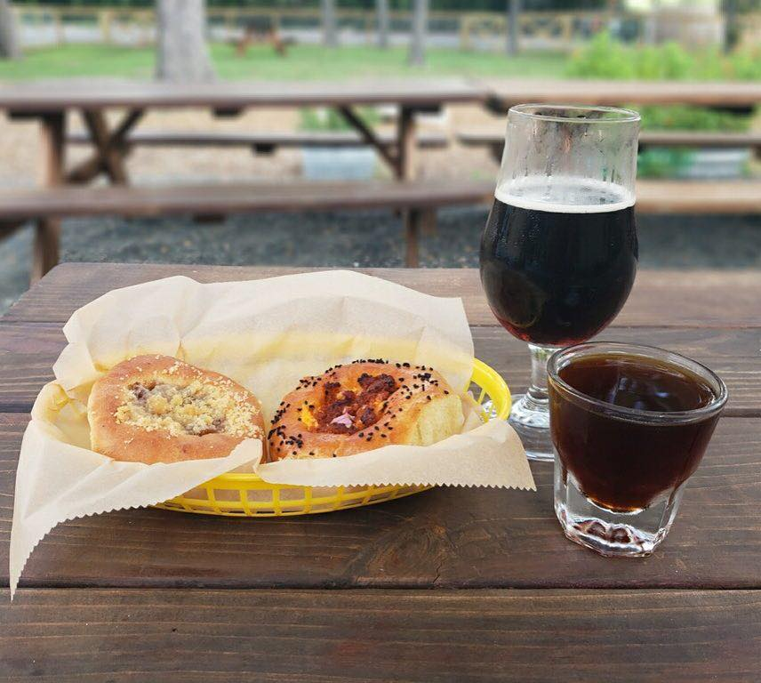 Kolaches and beer at Batch