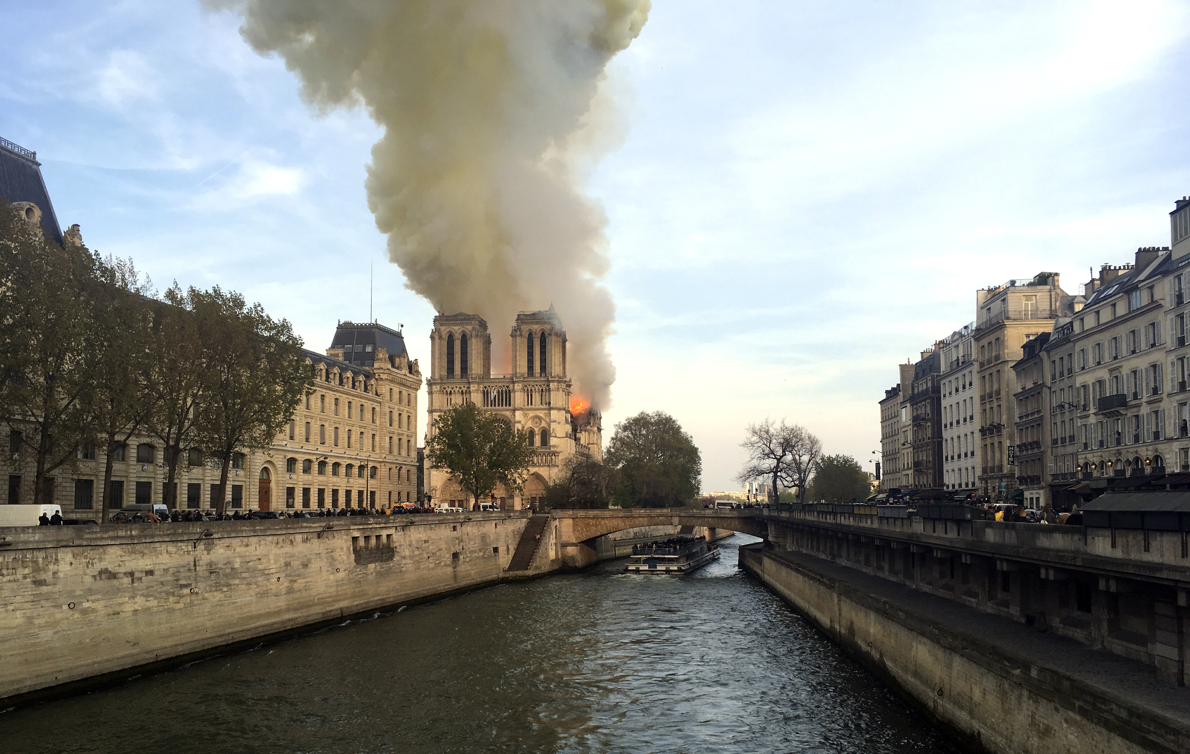 Notre Dame fire: Historic Paris cathedral saved from total destruction