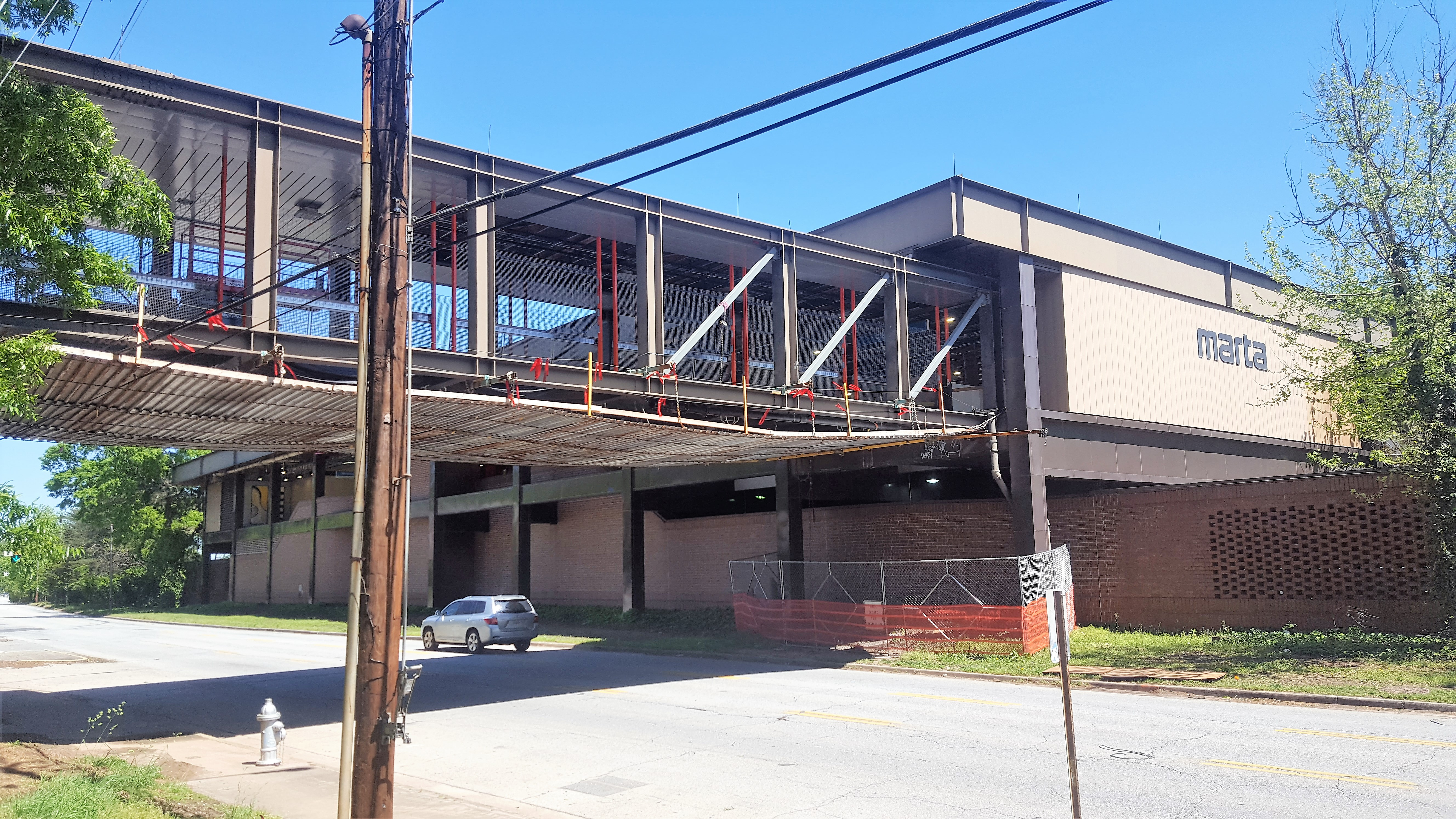 a picture of the under renovation marta stop