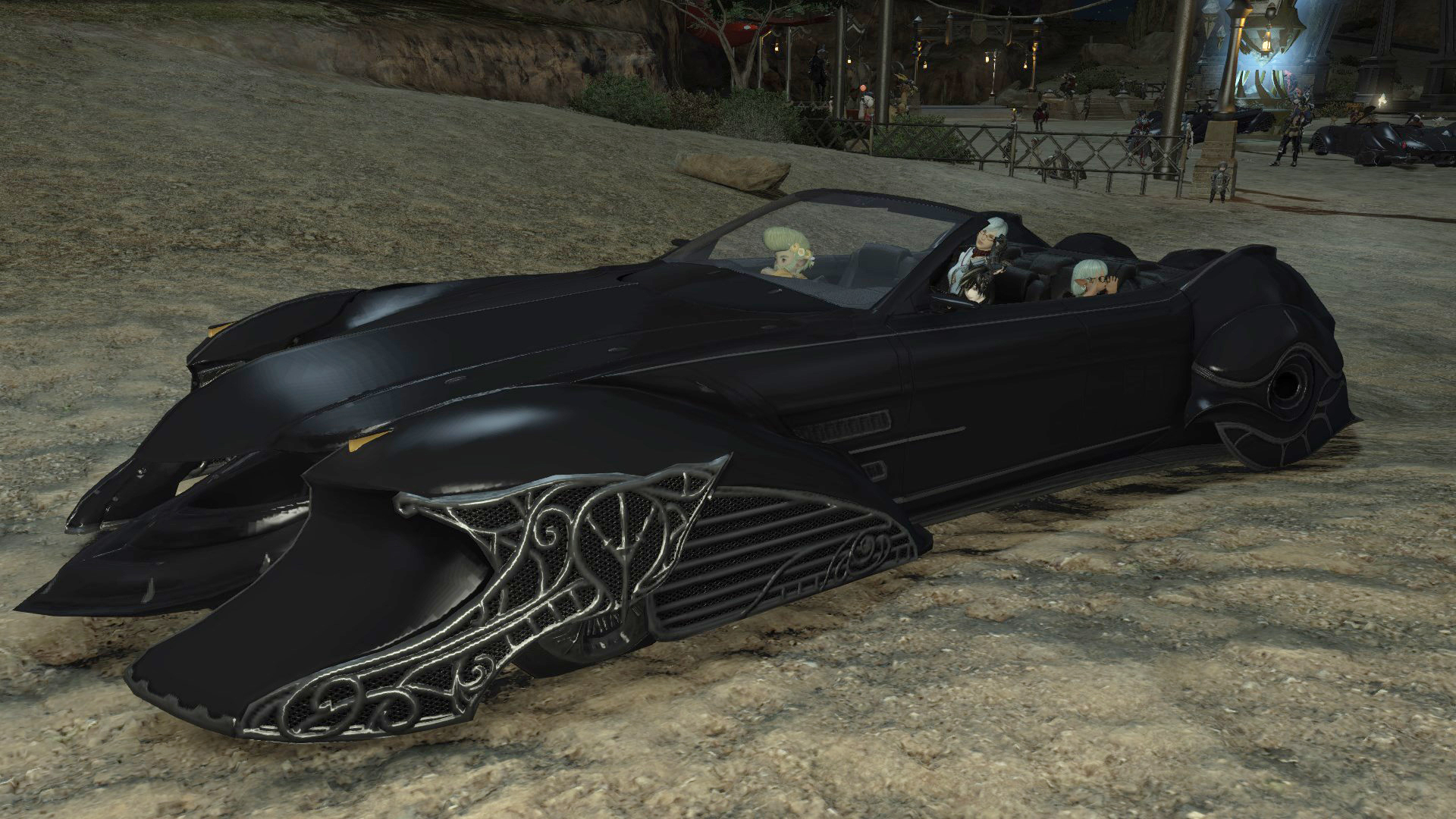 Final Fantasy 15's Regalia car is now in FF14, and everything is chaos