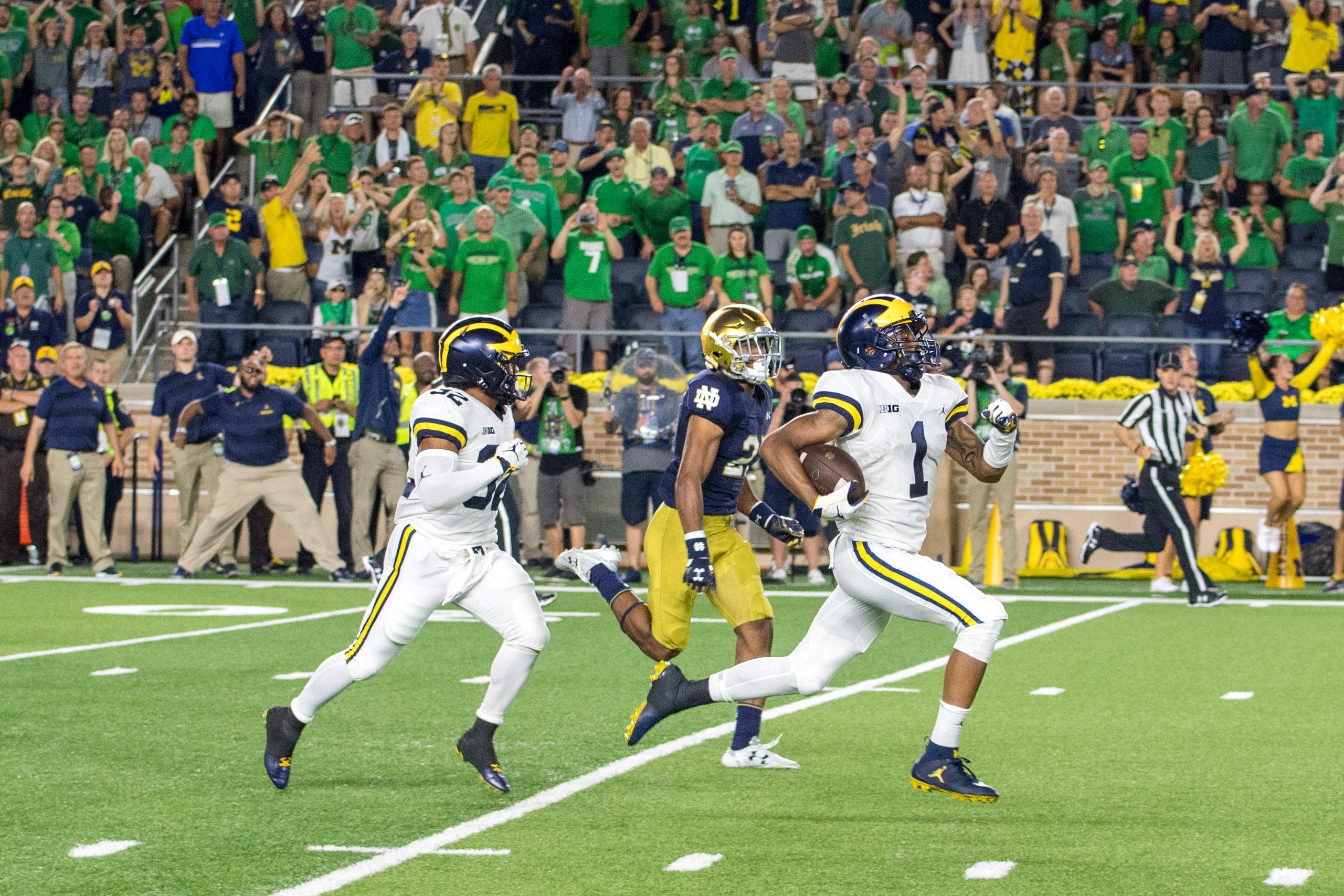 NCAA Football: Michigan at Notre Dame