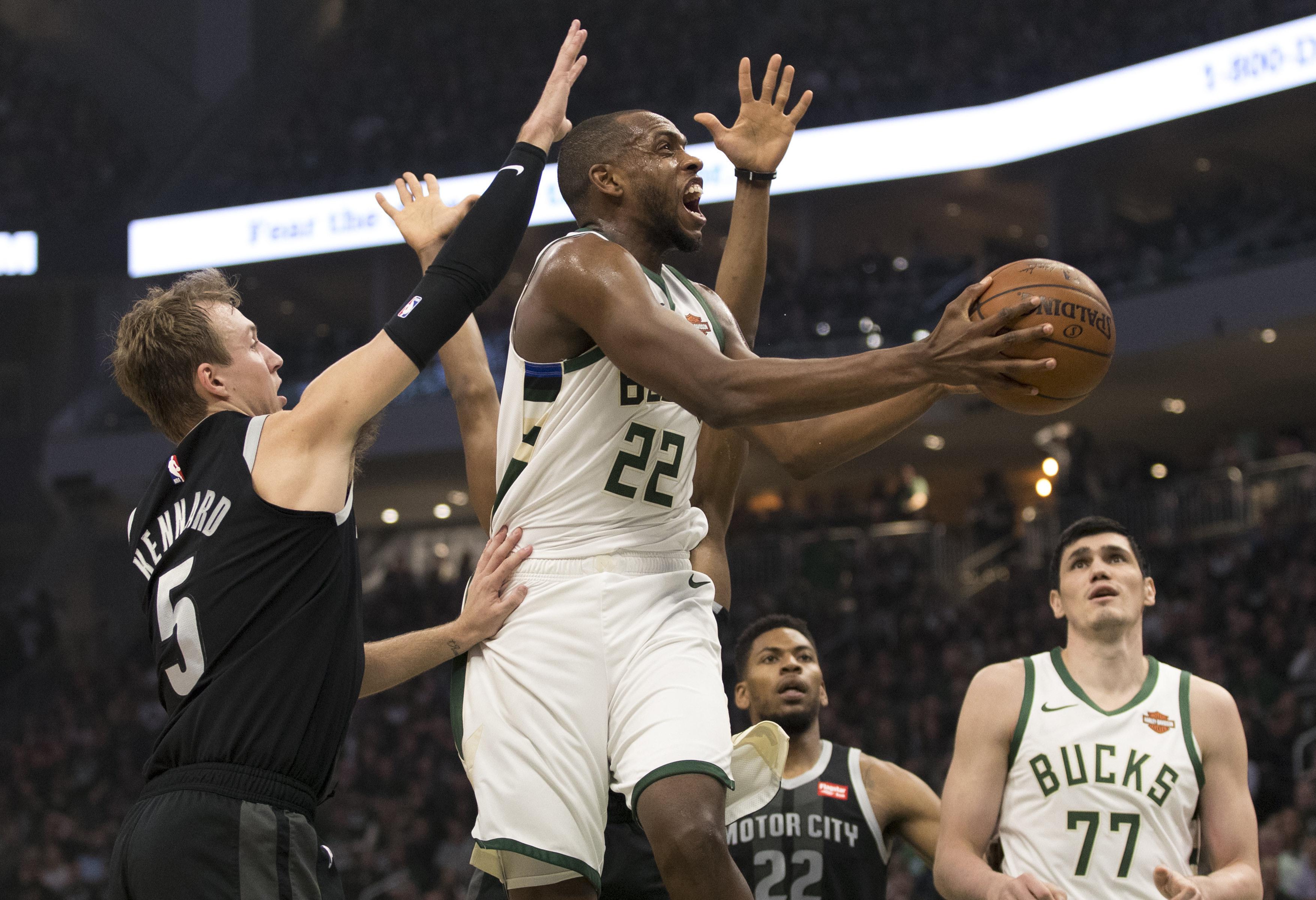NBA: Playoffs-Detroit Pistons at Milwaukee Bucks