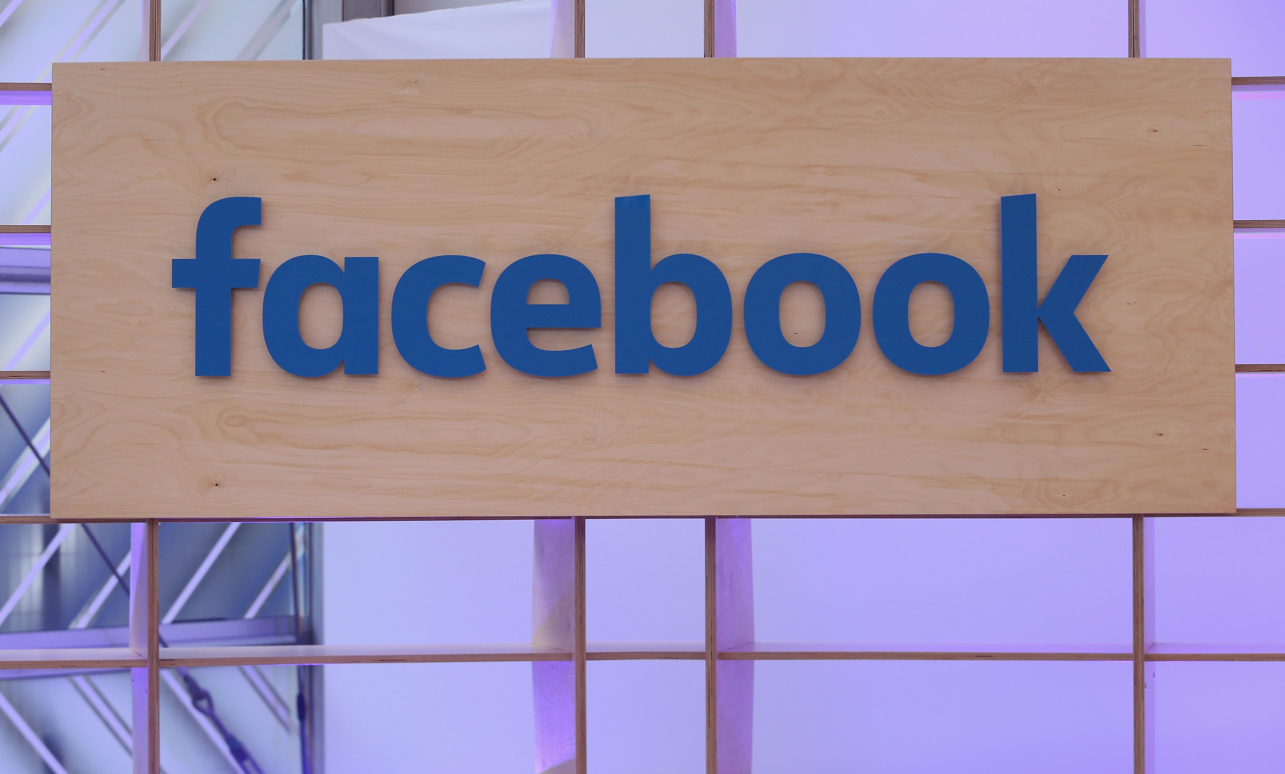 Facebook sign.