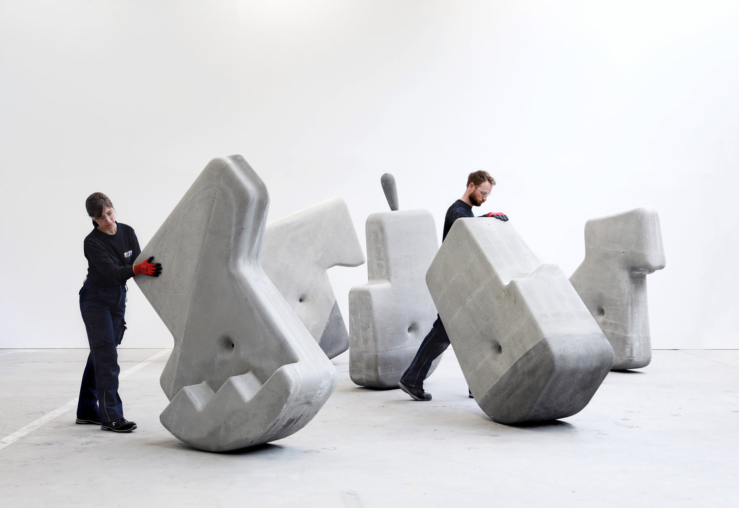 These massive concrete objects are designed to move with ease