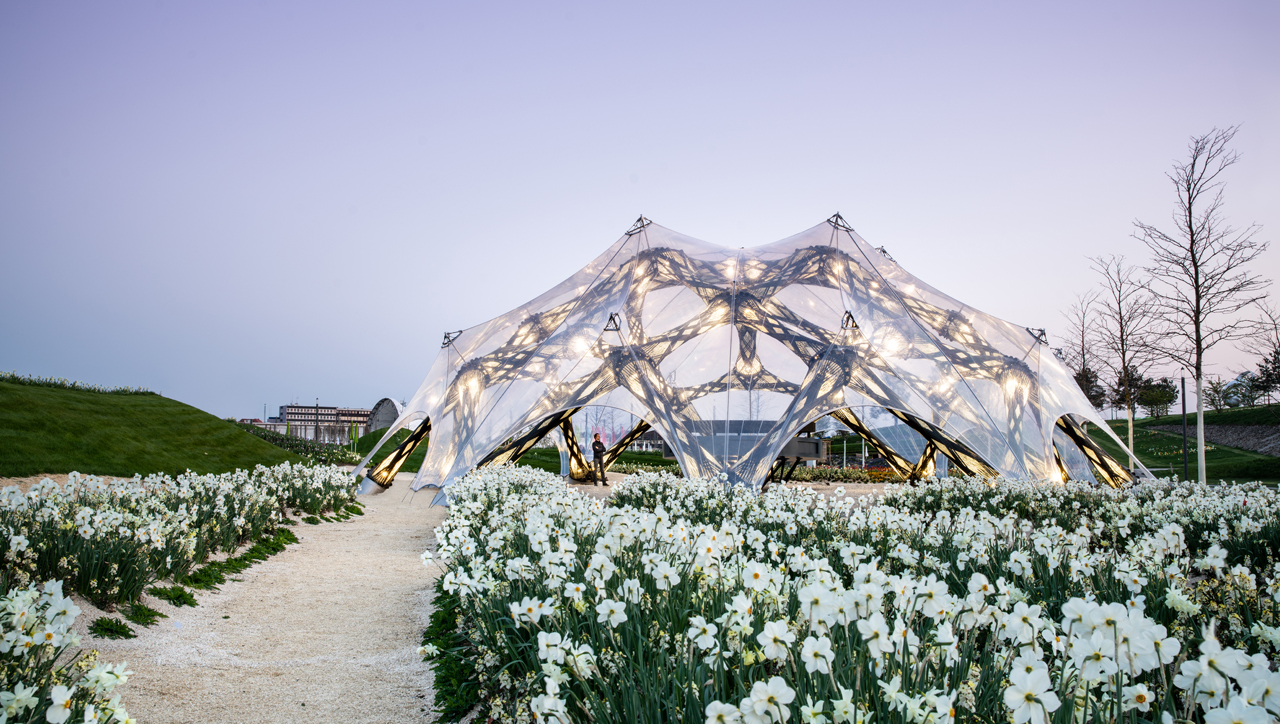 Impressive robot-built pavilions were inspired by nature