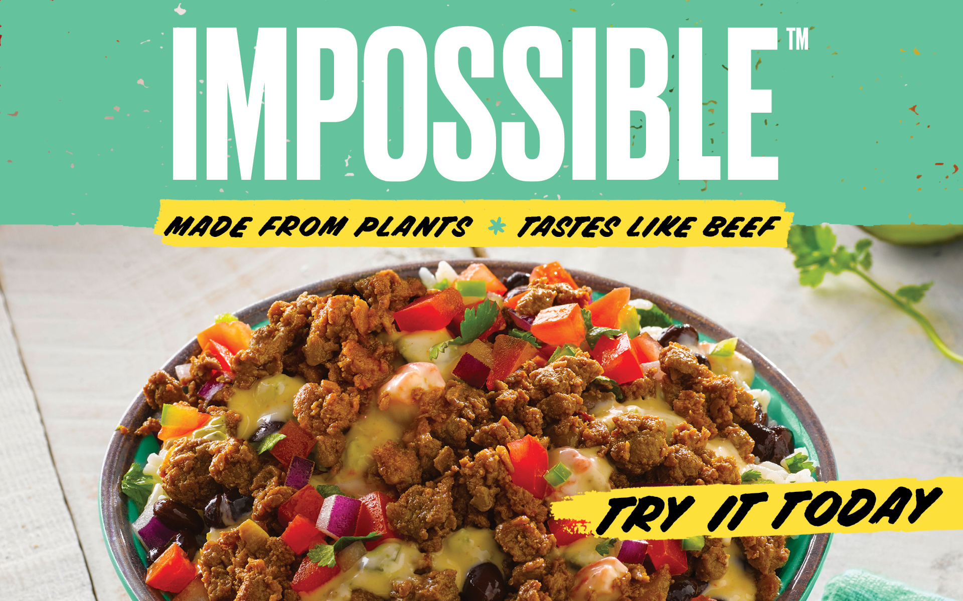 Qdoba's Impossible Meat tacos and bowls are 100% meatless