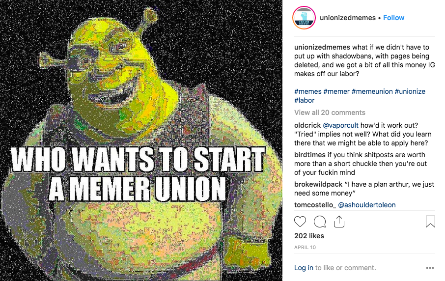 Leftist memes are everywhere on Instagram. Now their creators are unionizing.
