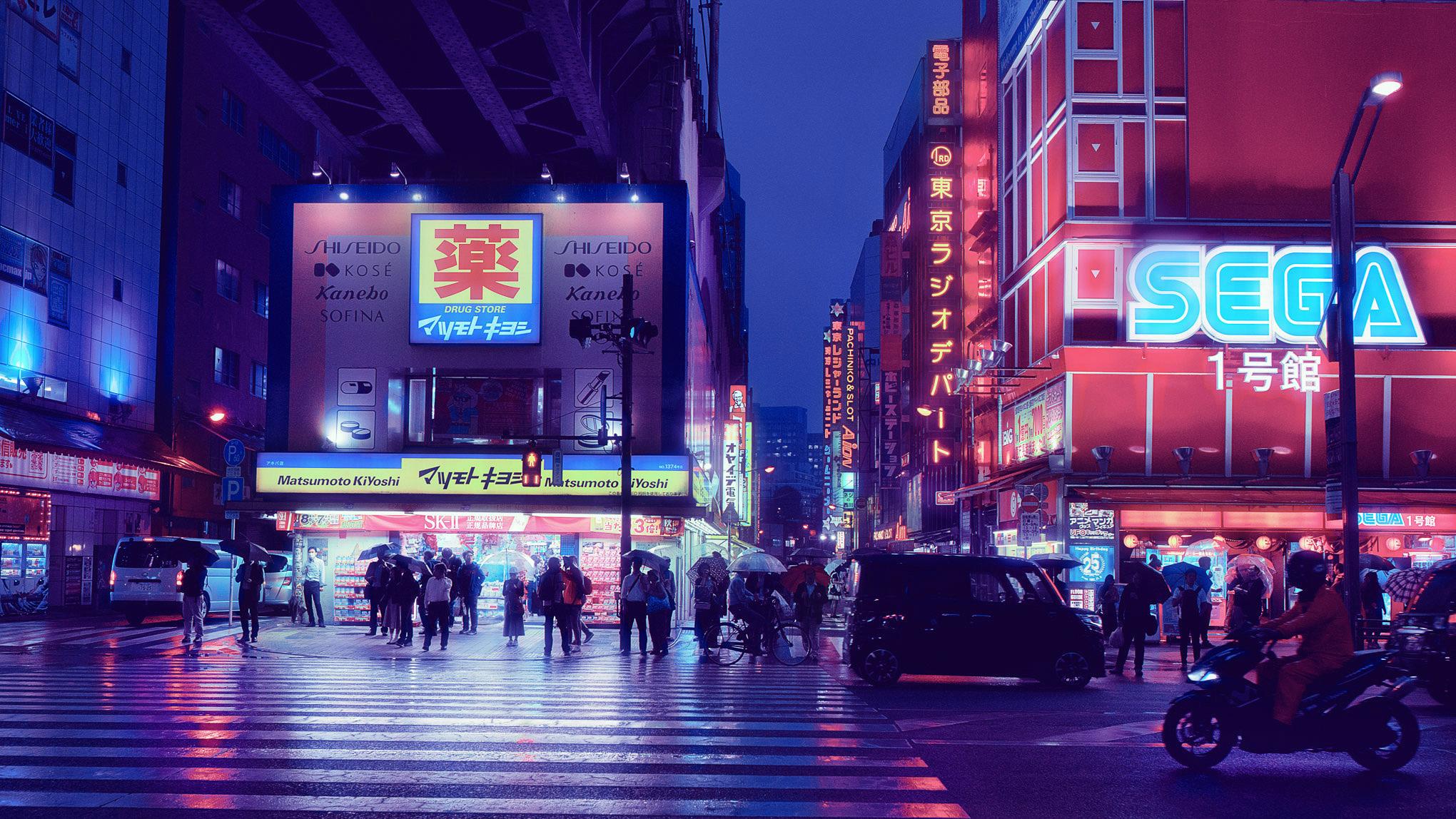 Photo gallery: Tokyo game landmarks at night