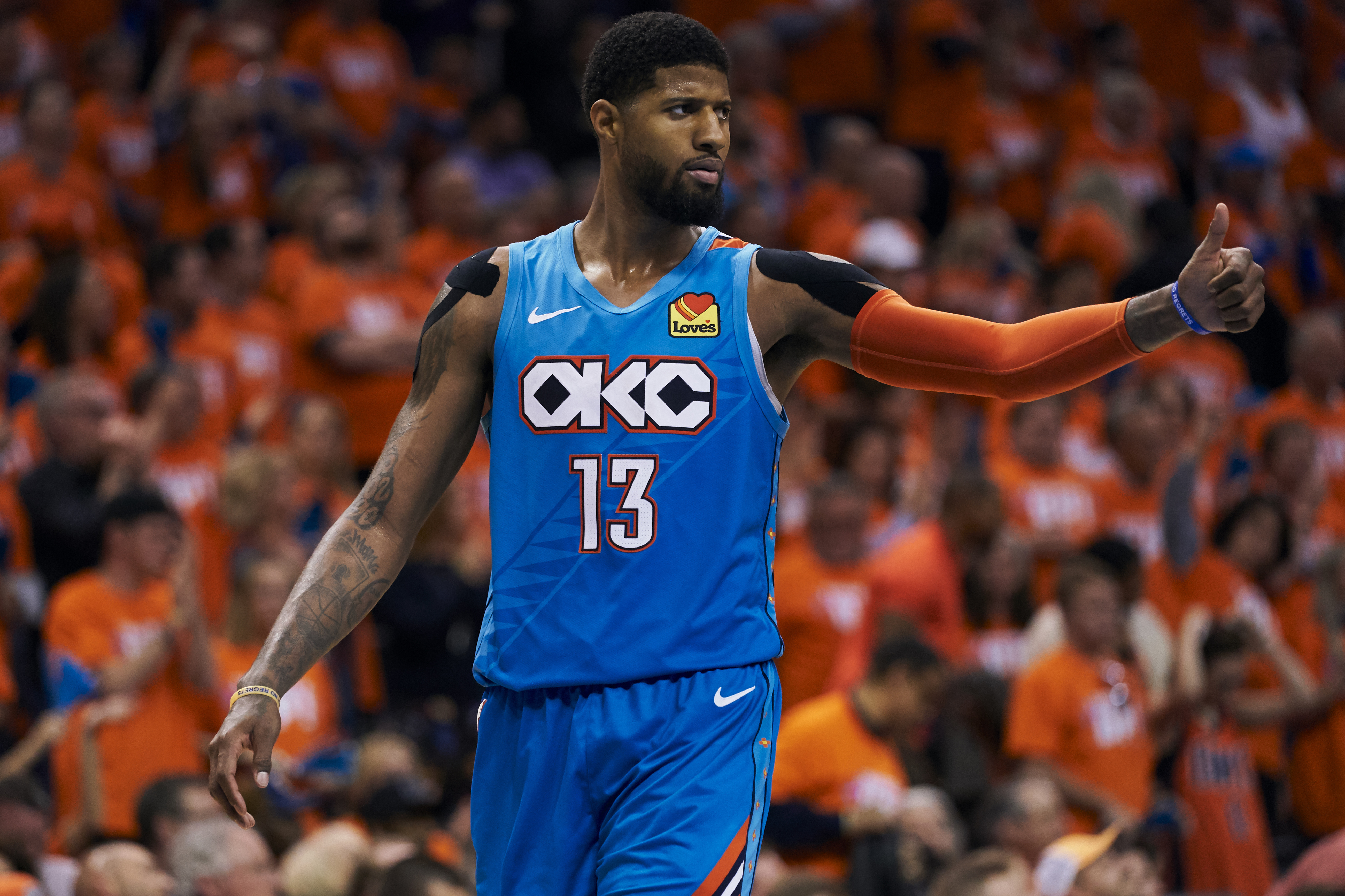 Paul George dunked at the buzzer up 12. Was it ethical?