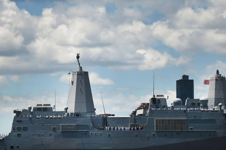 US Navy investigates hidden camera aboard a ship in a women's bathroom