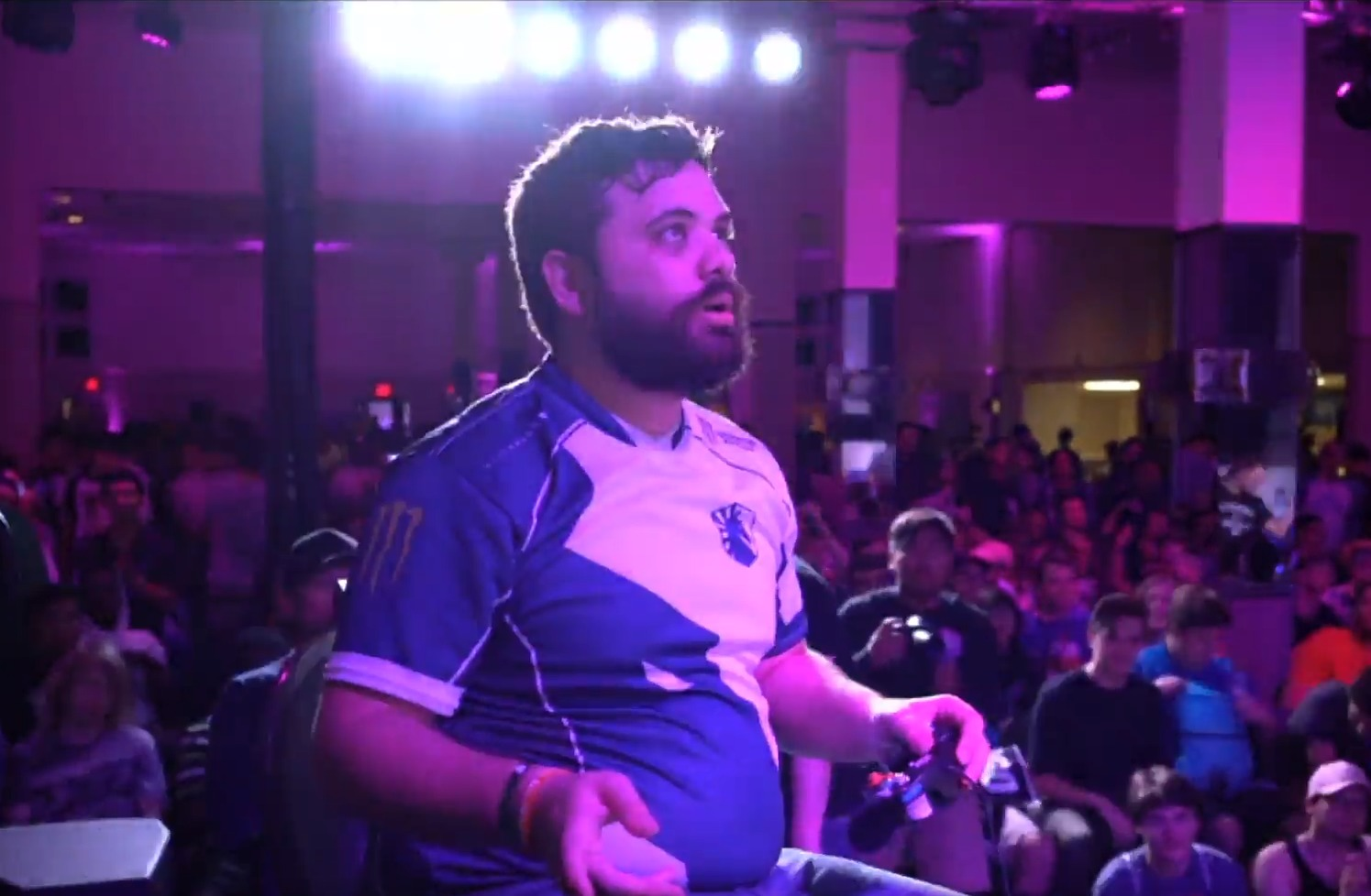 "A still from the Pound 2019 tournament featuring Juan ""Hungrybox"" DeBiedma"