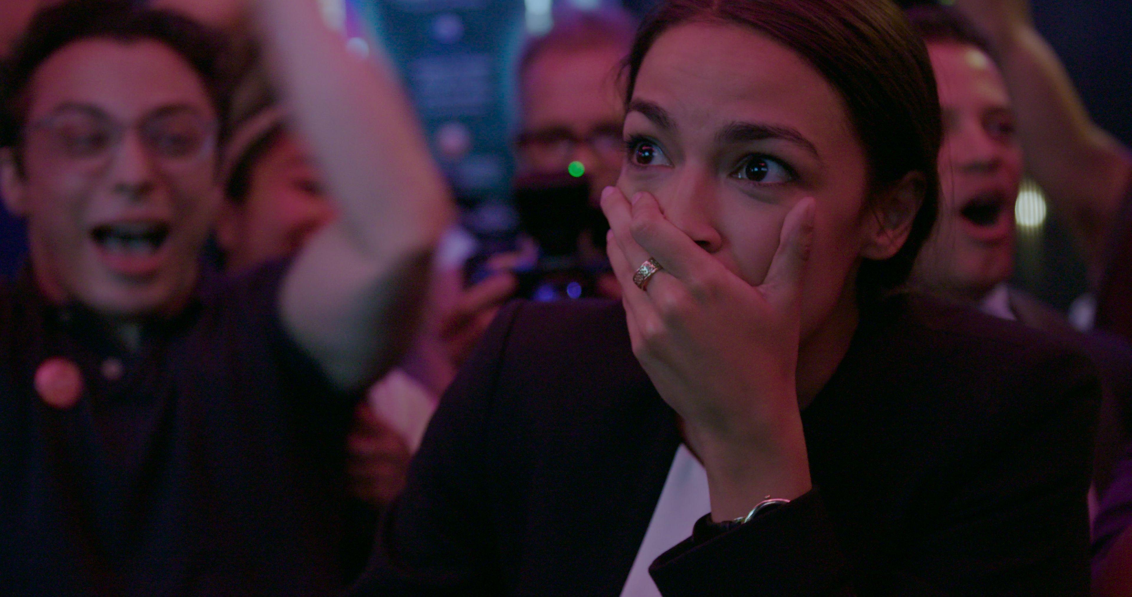 Alexandria Ocasio-Cortez in Knock Down the House.