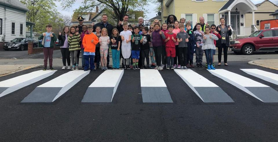 Medford 3D crosswalks appear to be a first for Boston region
