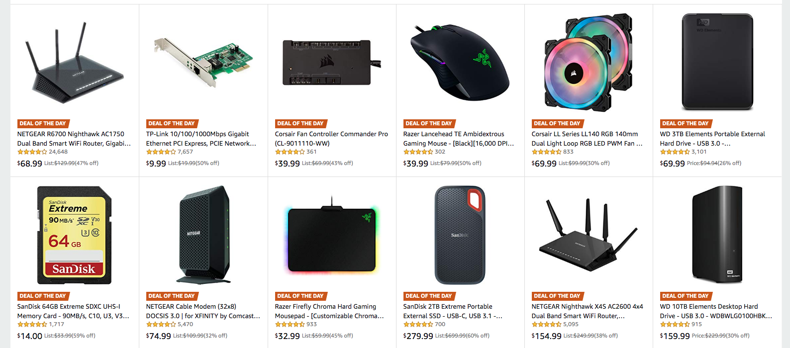 PC components and accessories are up to 60 percent off in an Amazon deal of the day