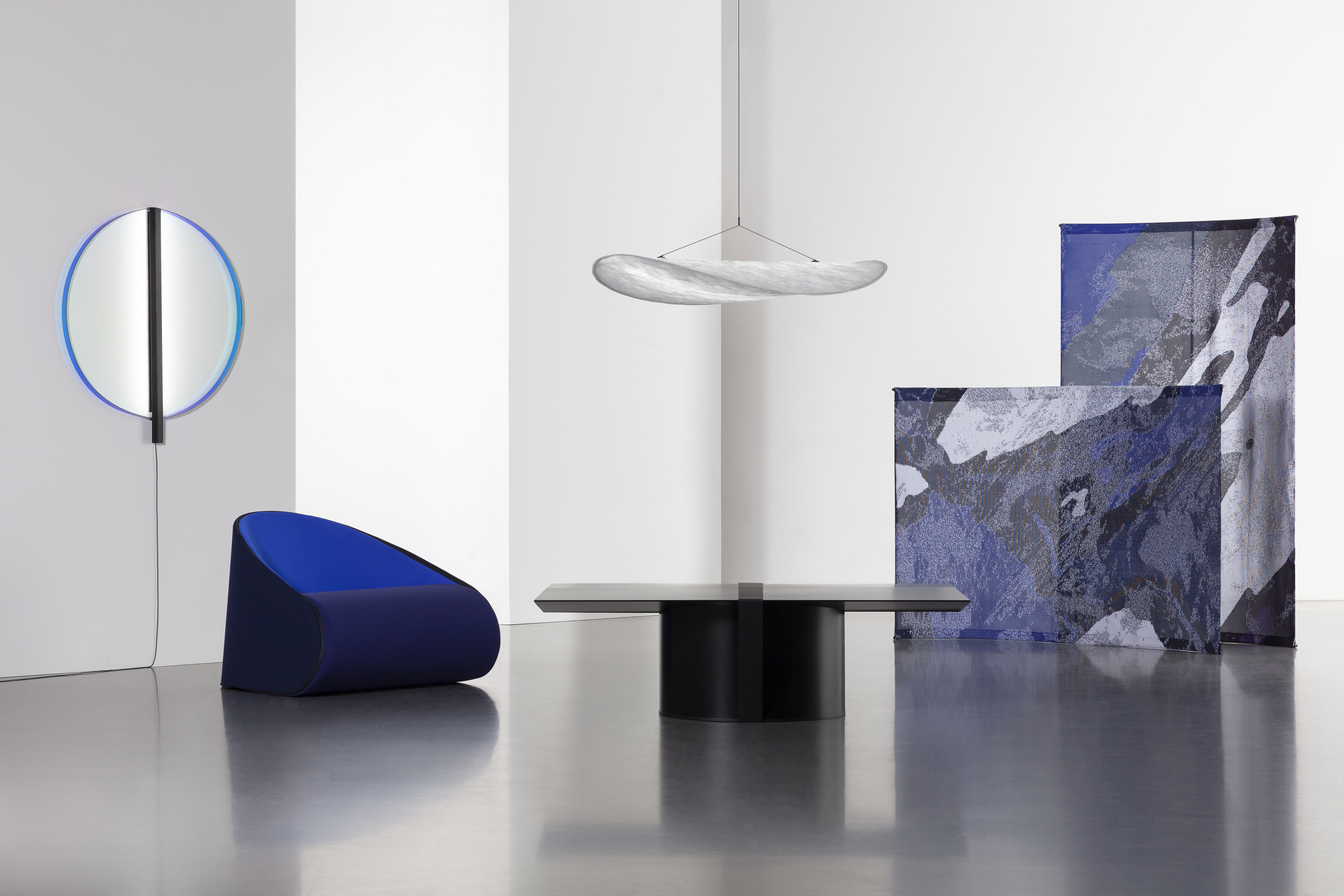 Each piece in Panter & Tourron's new furniture collection ships flatpack and is made of recycled materials.