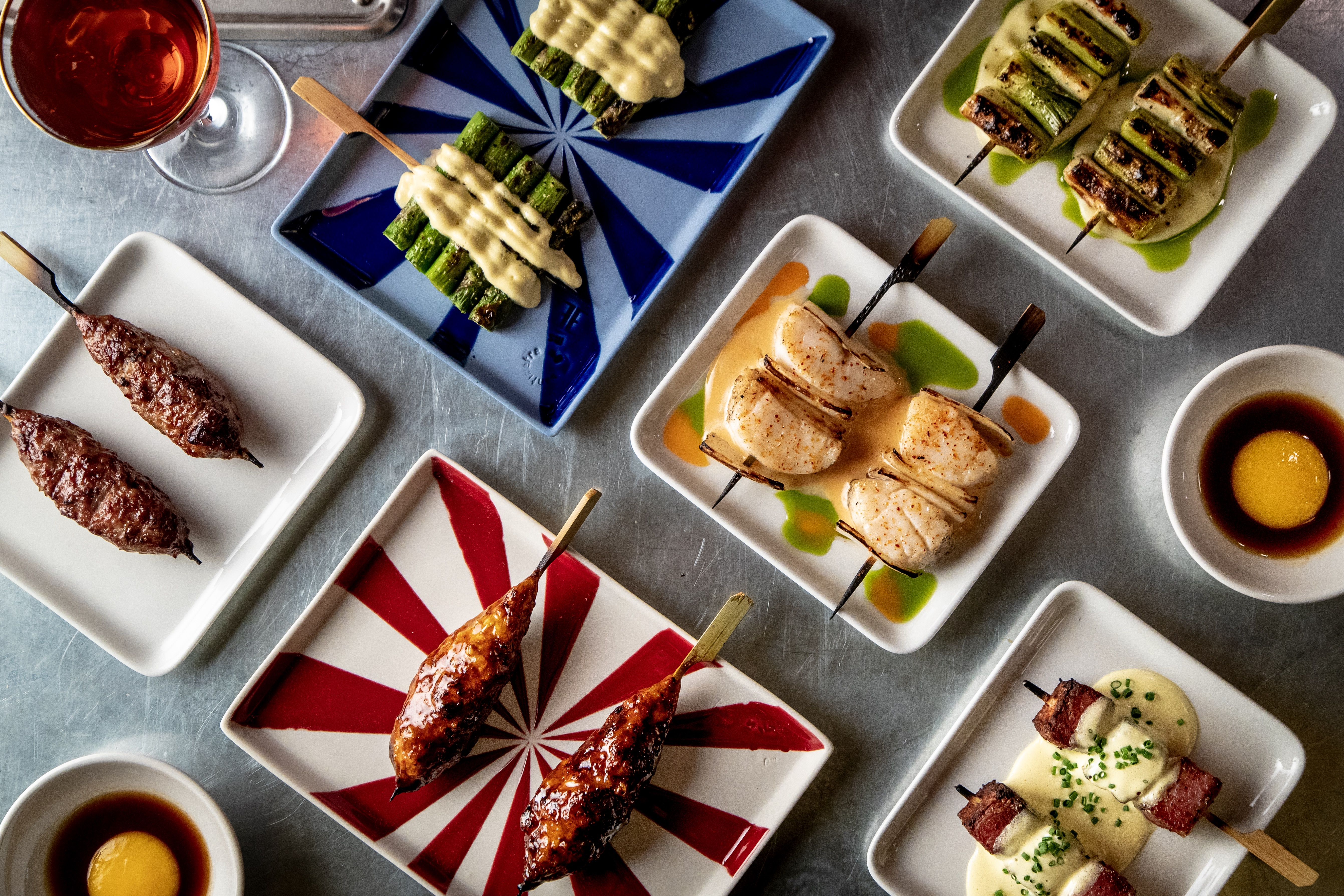Assorted skewers at Maison Yaki