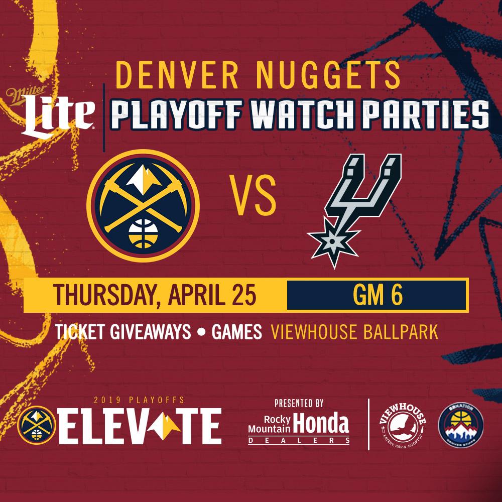 Denver Nuggets Playoff Schedule 2019: Denver Stiffs