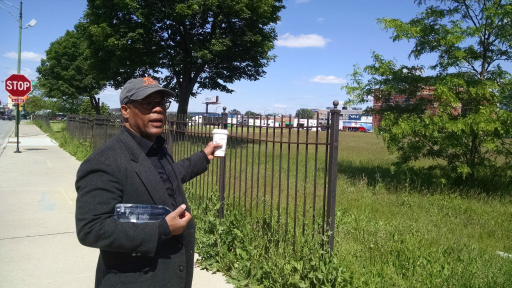 Ald. Walter Burnett Jr. (27th) says redevelopment of the Cabrini-Green area — including this open land next to a Target — could take several more years.