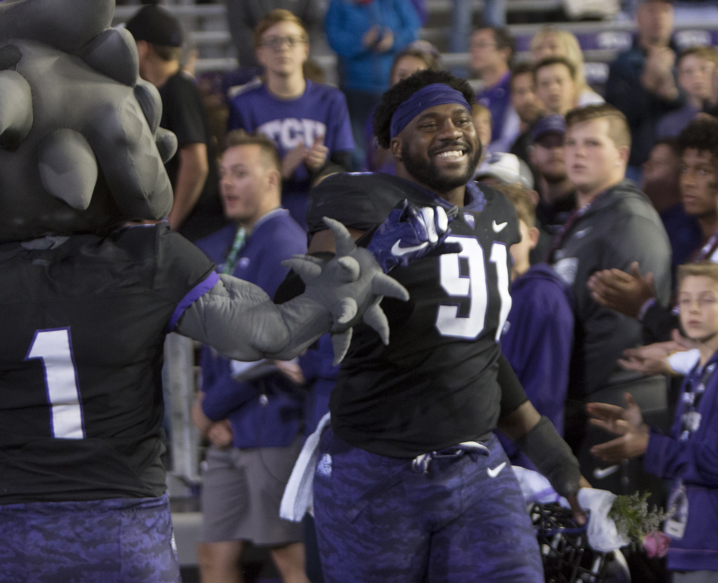 online retailer 721f3 47d61 TCU DE LJ Collier drafted by the Seahawks in the first round ...