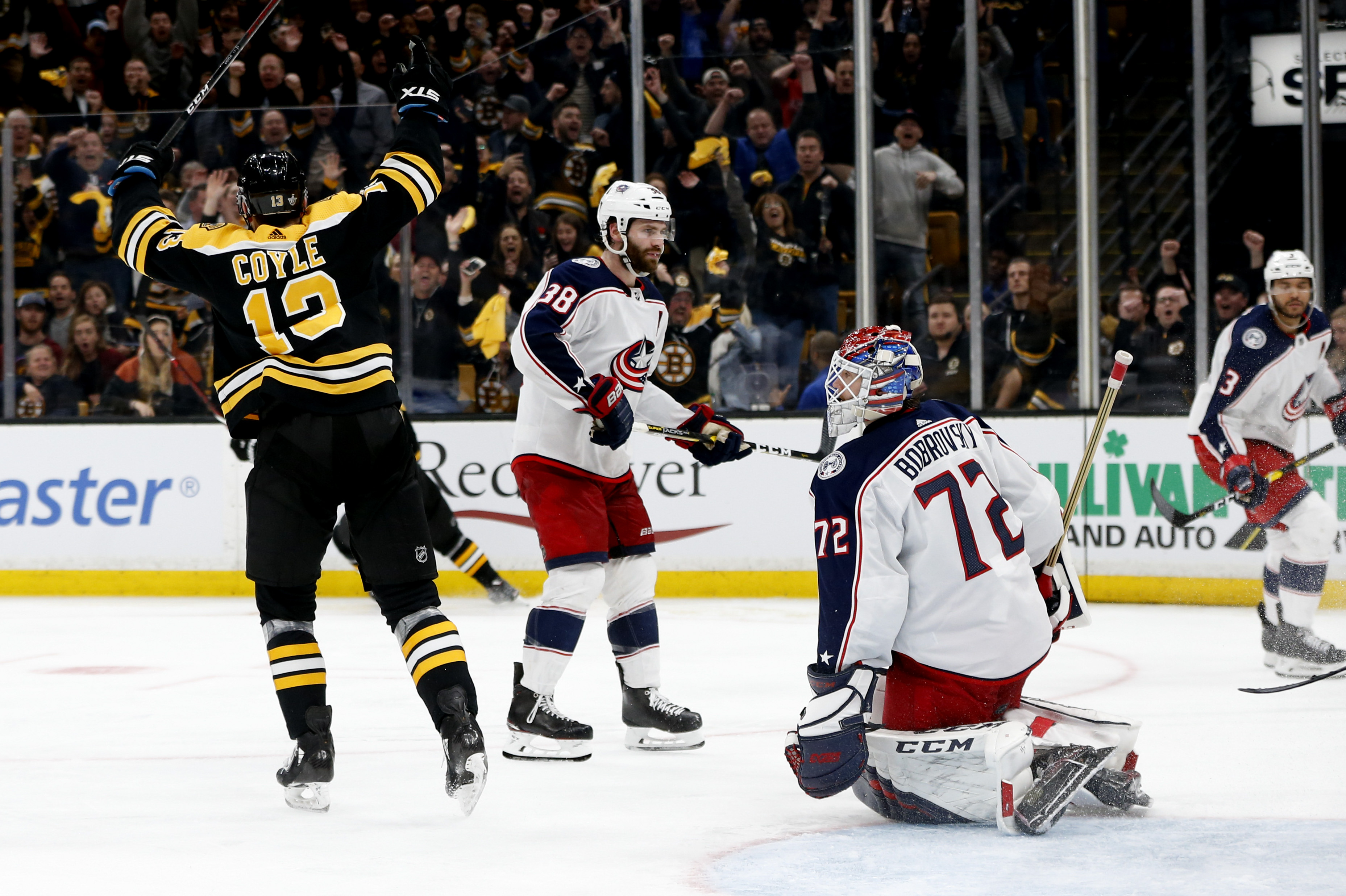 NHL: Stanley Cup Playoffs-Columbus Blue Jackets at Boston Bruins
