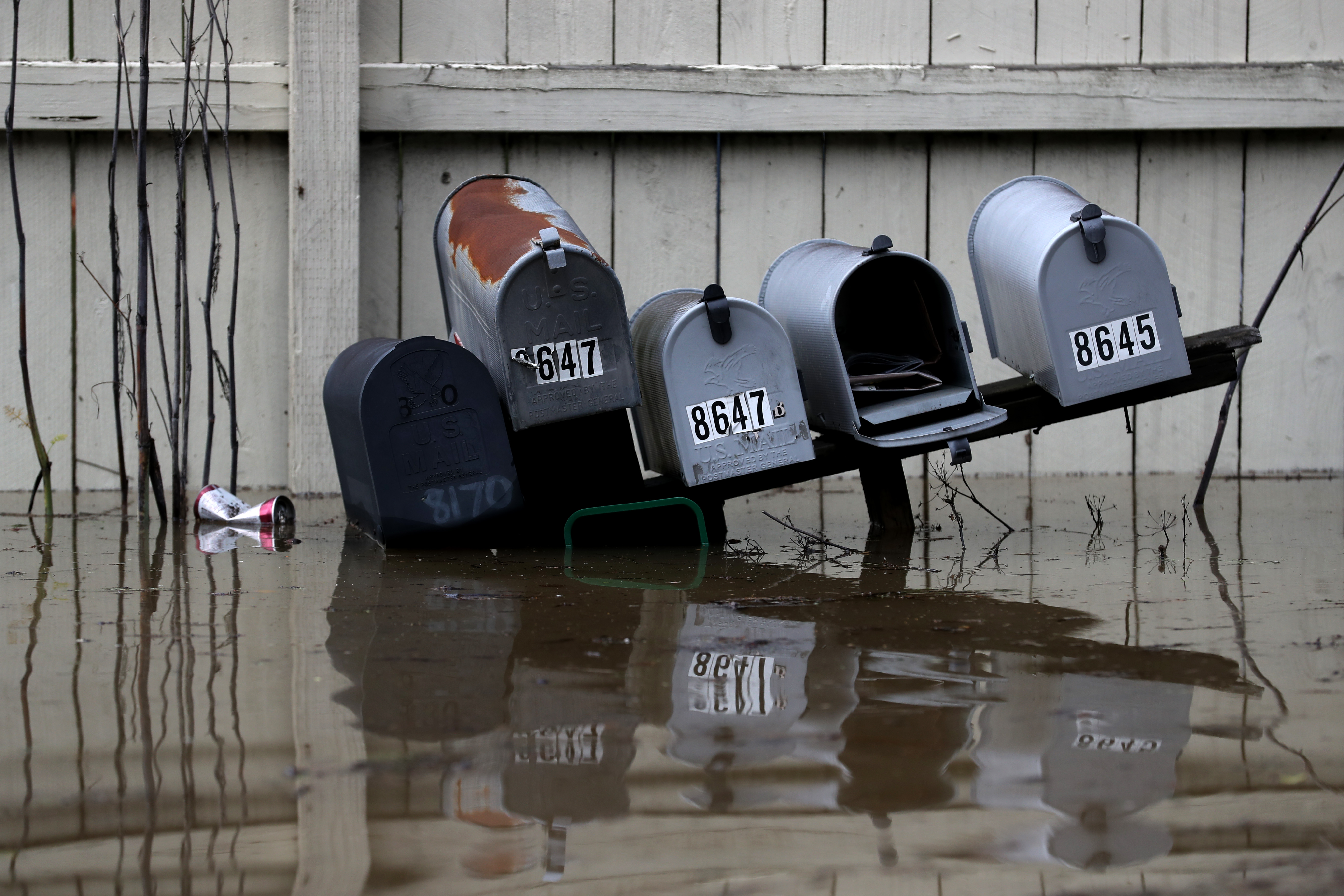 """Sonoma County Town Of Guerneville Inundated With Flood Waters From """"Atmospheric River"""" Weather System"""