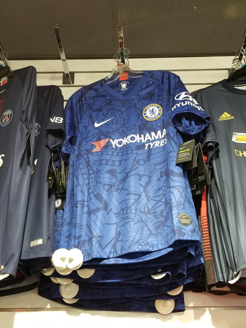dfc8eabd7 SPOTTED  Nike 2019-20 Chelsea home shirt already on sale in ... Toronto