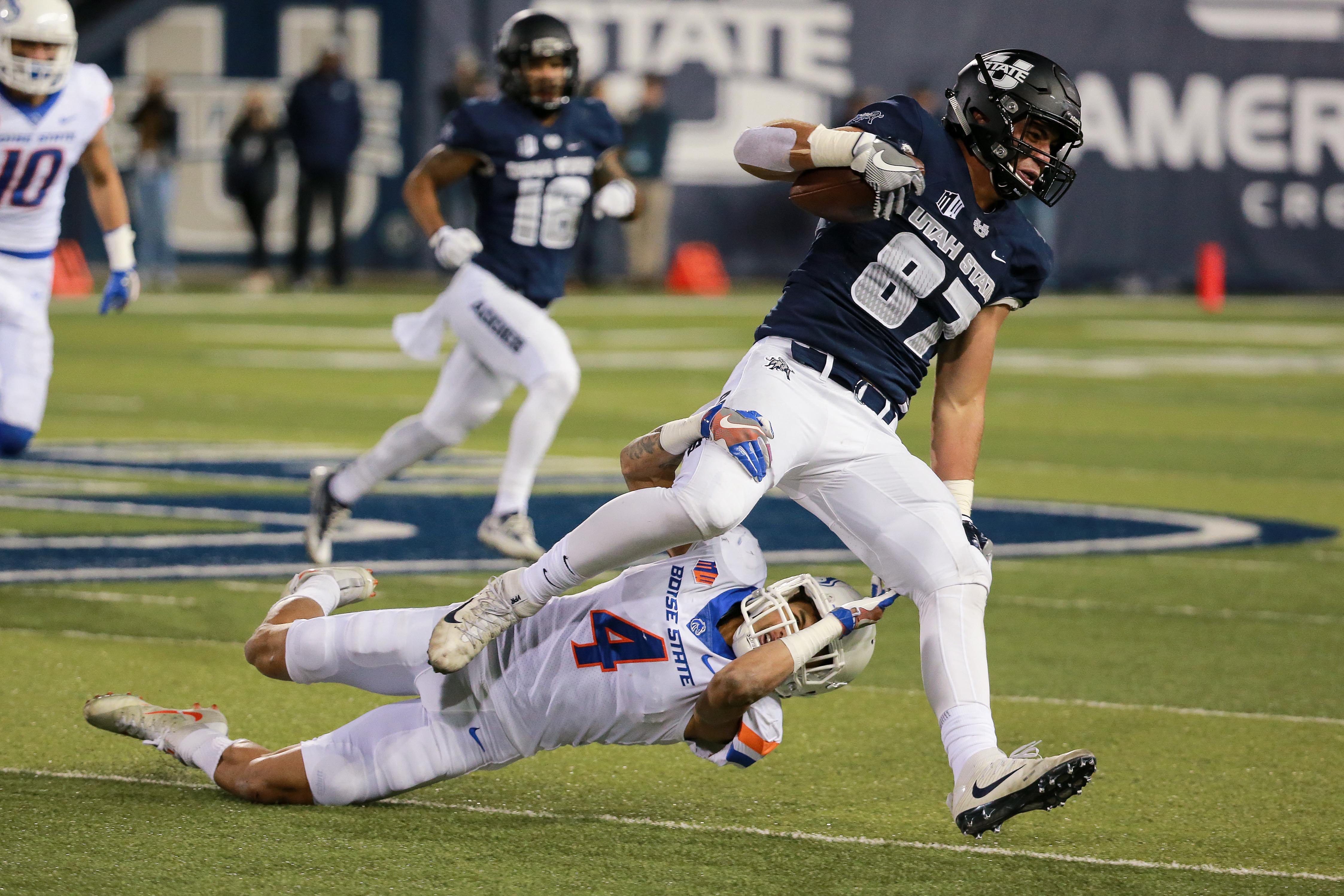 NCAA Football: Boise State at Utah State