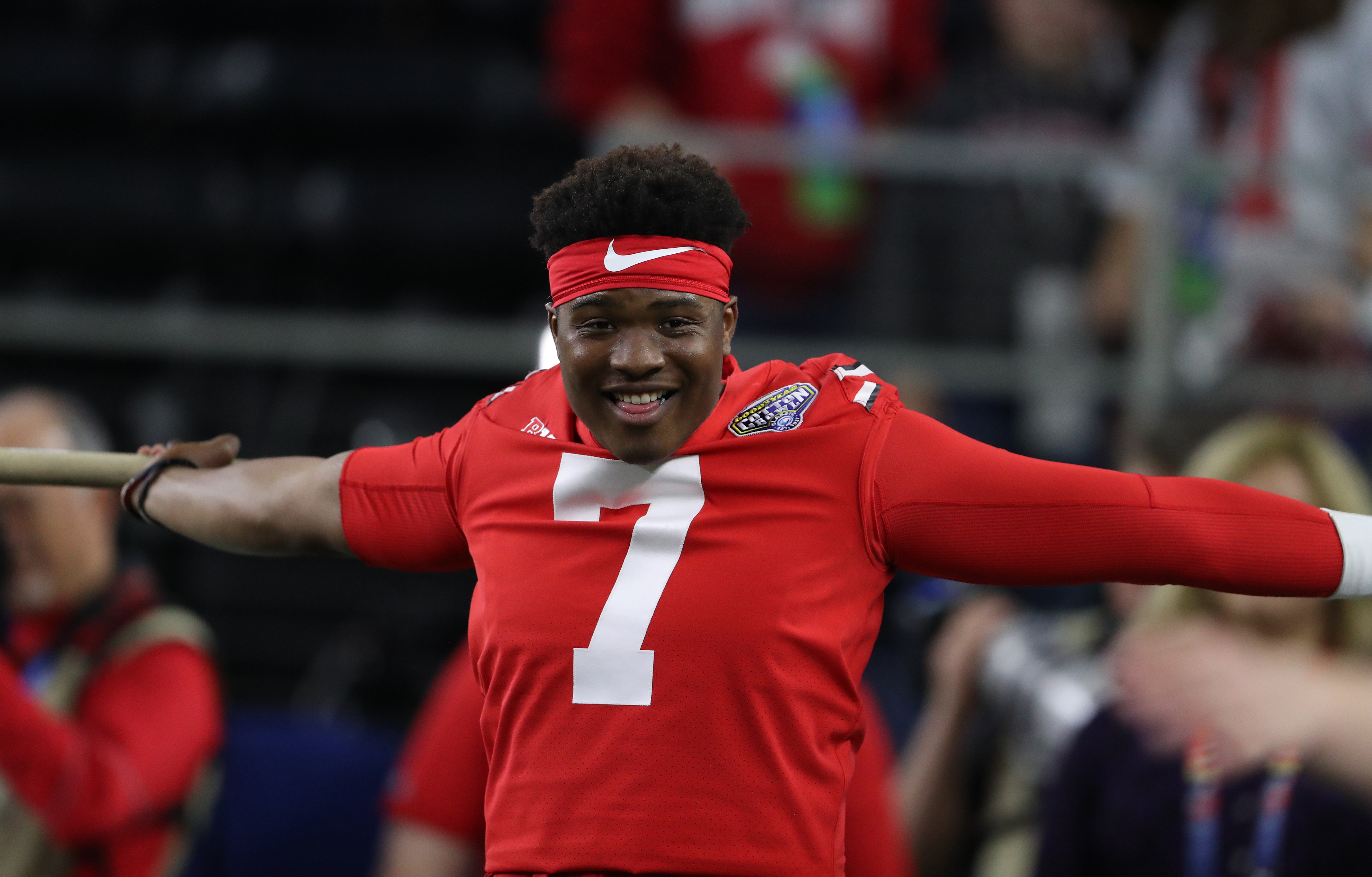 info for 90a7a 18774 Dwayne Haskins will wear #7 for the Redskins, Joe Theismann ...