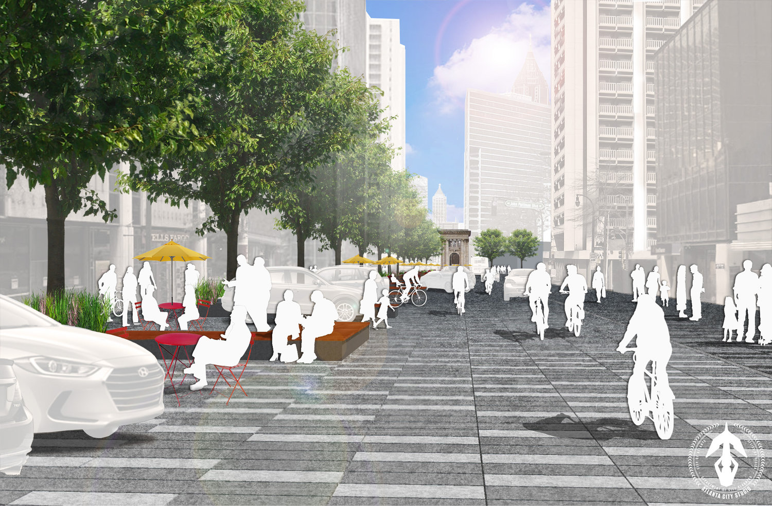 Half-mile piece of Peachtree Street could be transformed into Dutch-style 'woonerf'
