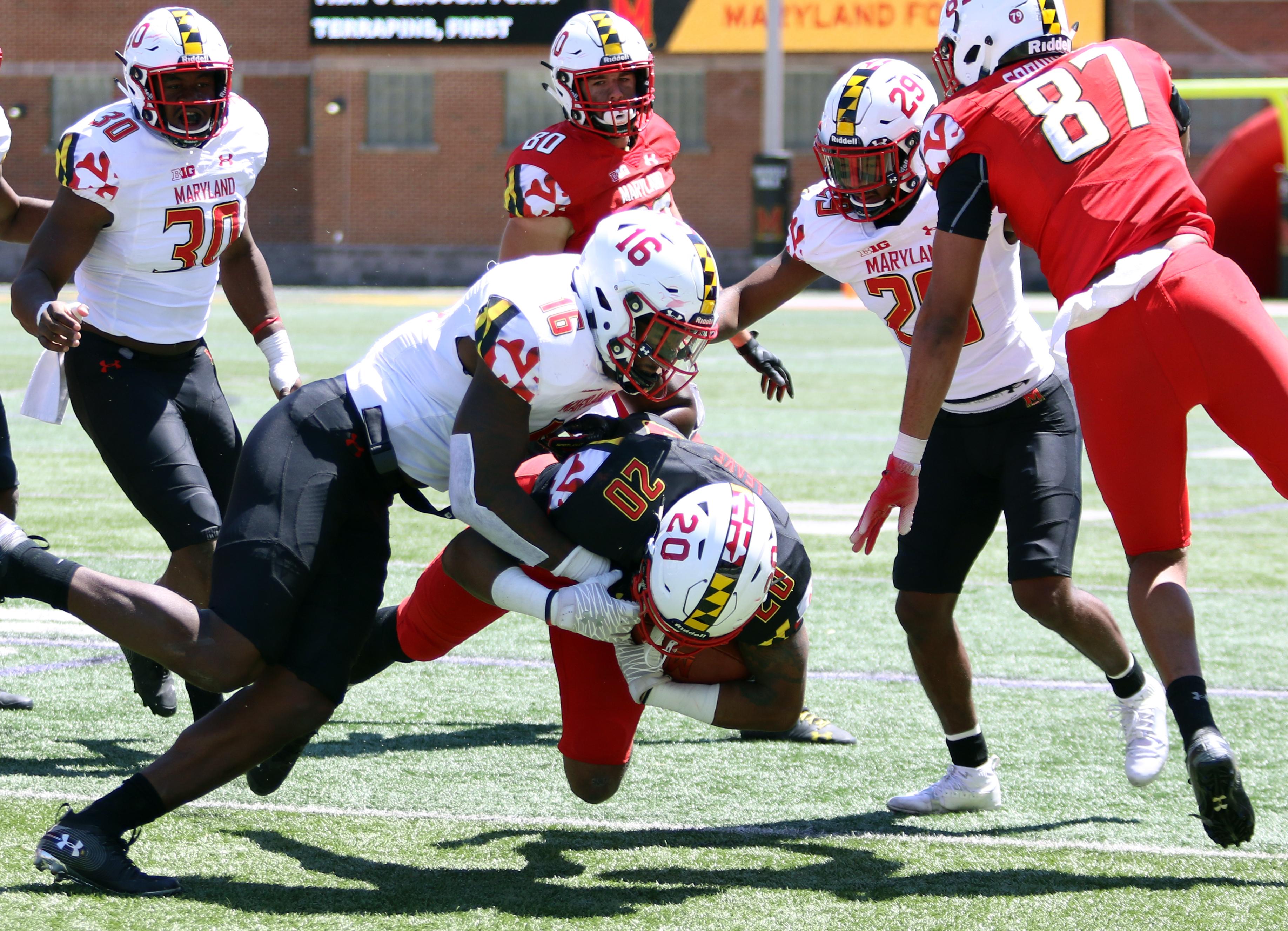 Maryland football Ayinde Eley spring game