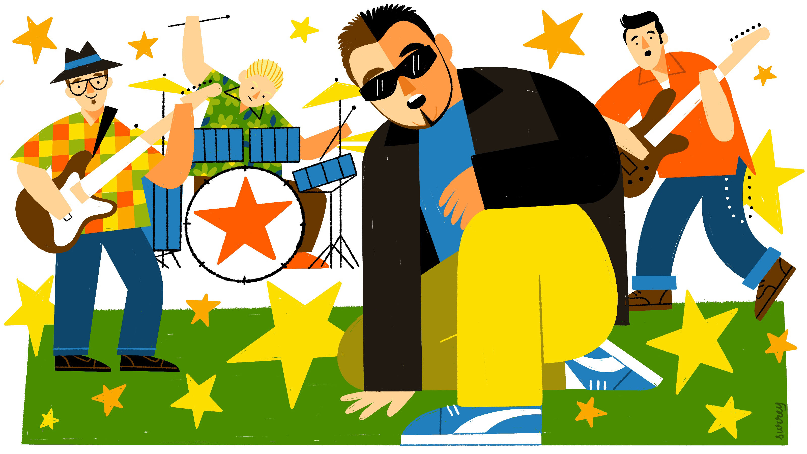 An illustration of the band Smash Mouth
