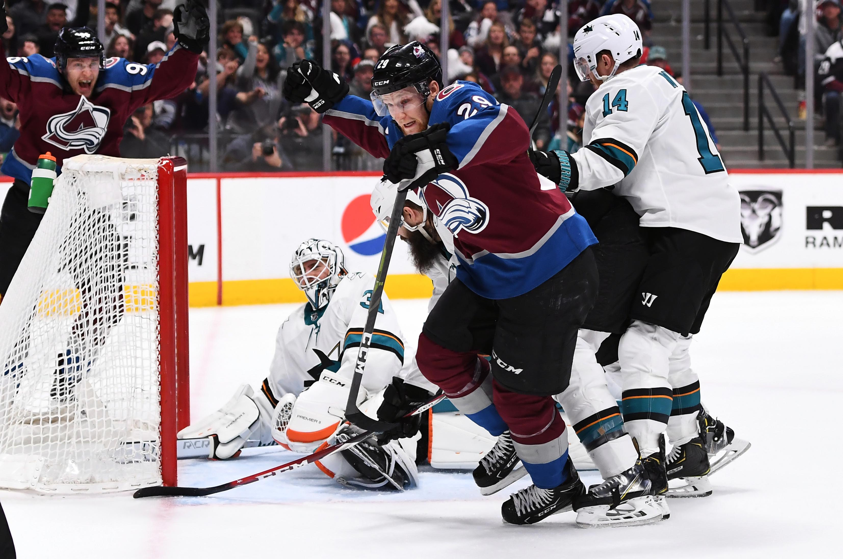 NHL: Stanley Cup Playoffs-San Jose Sharks at Colorado Avalanche