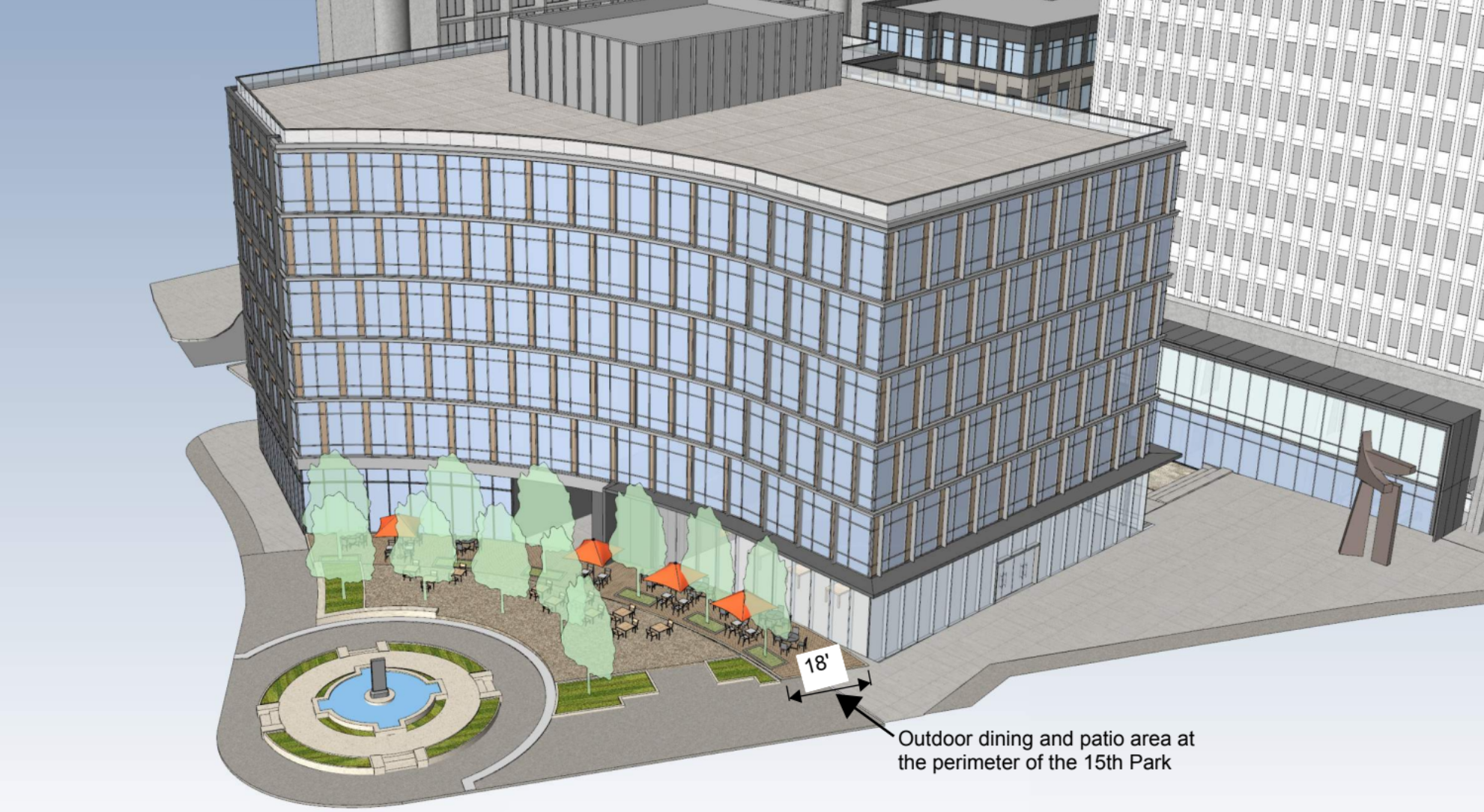 a rendering of the office building