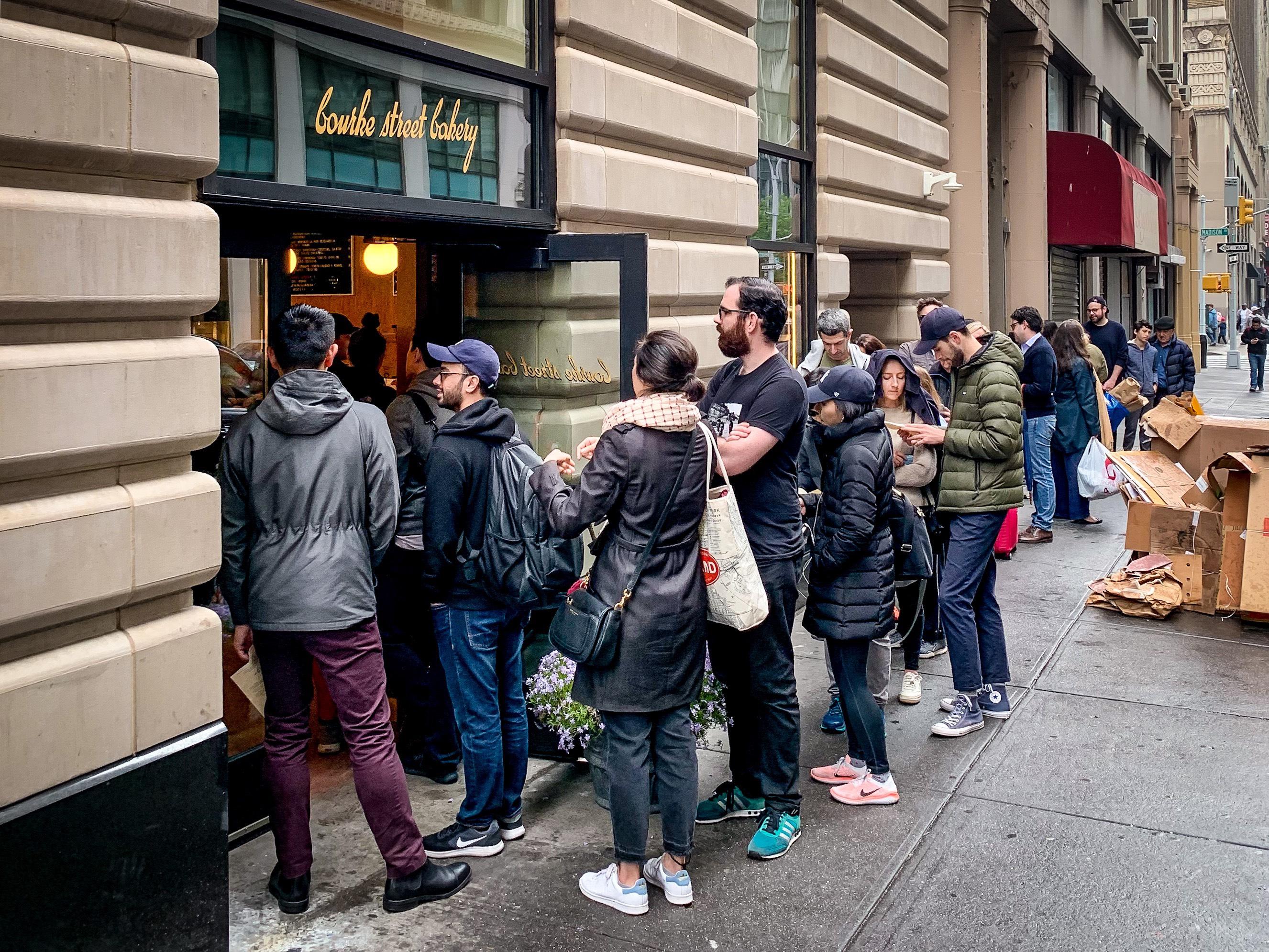 Bourke Street Bakery's opening day line