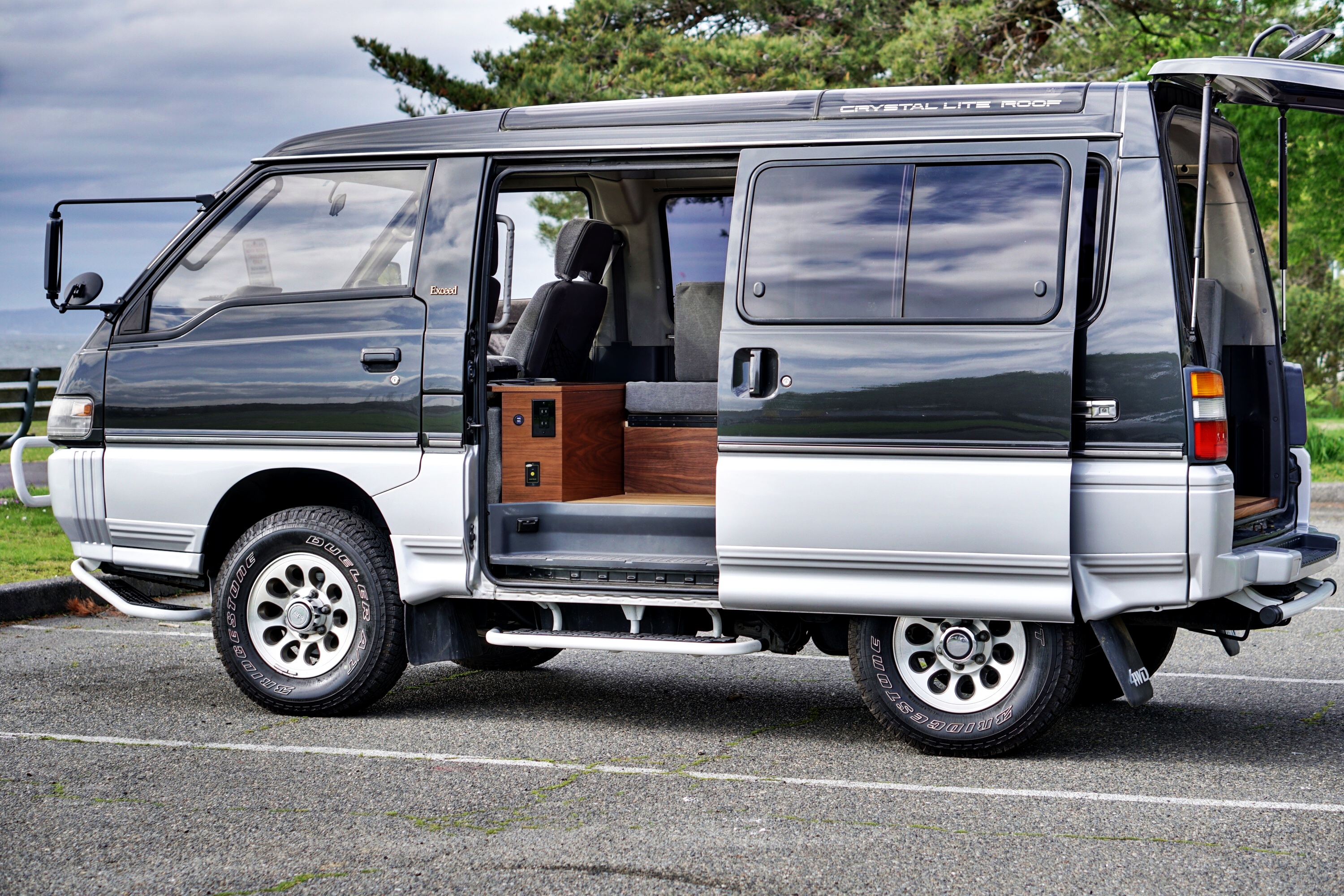 Rare four-wheel-drive van transformed into simple camper