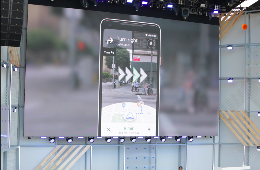 Google AR walking directions