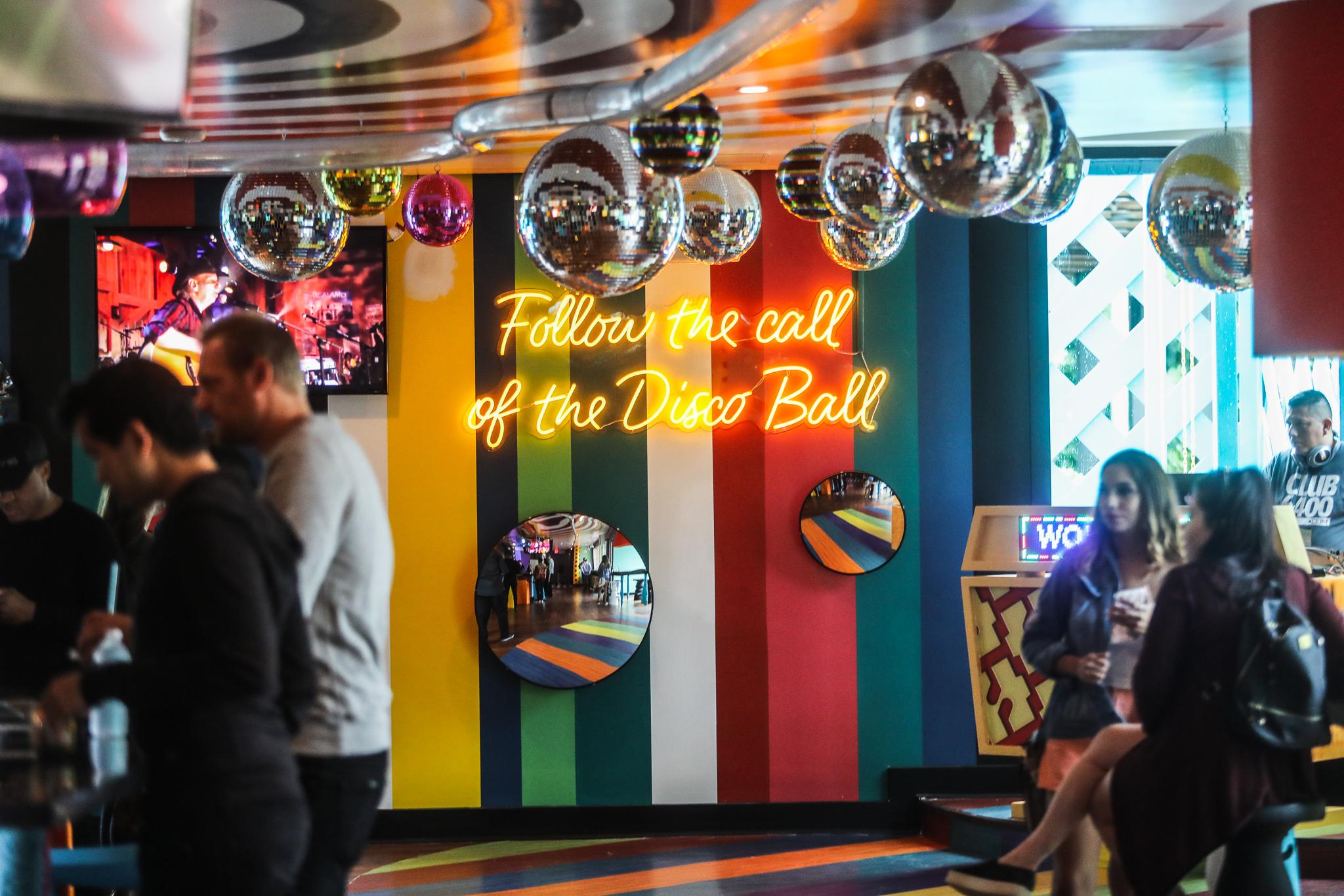 Wonder Bar's disco room
