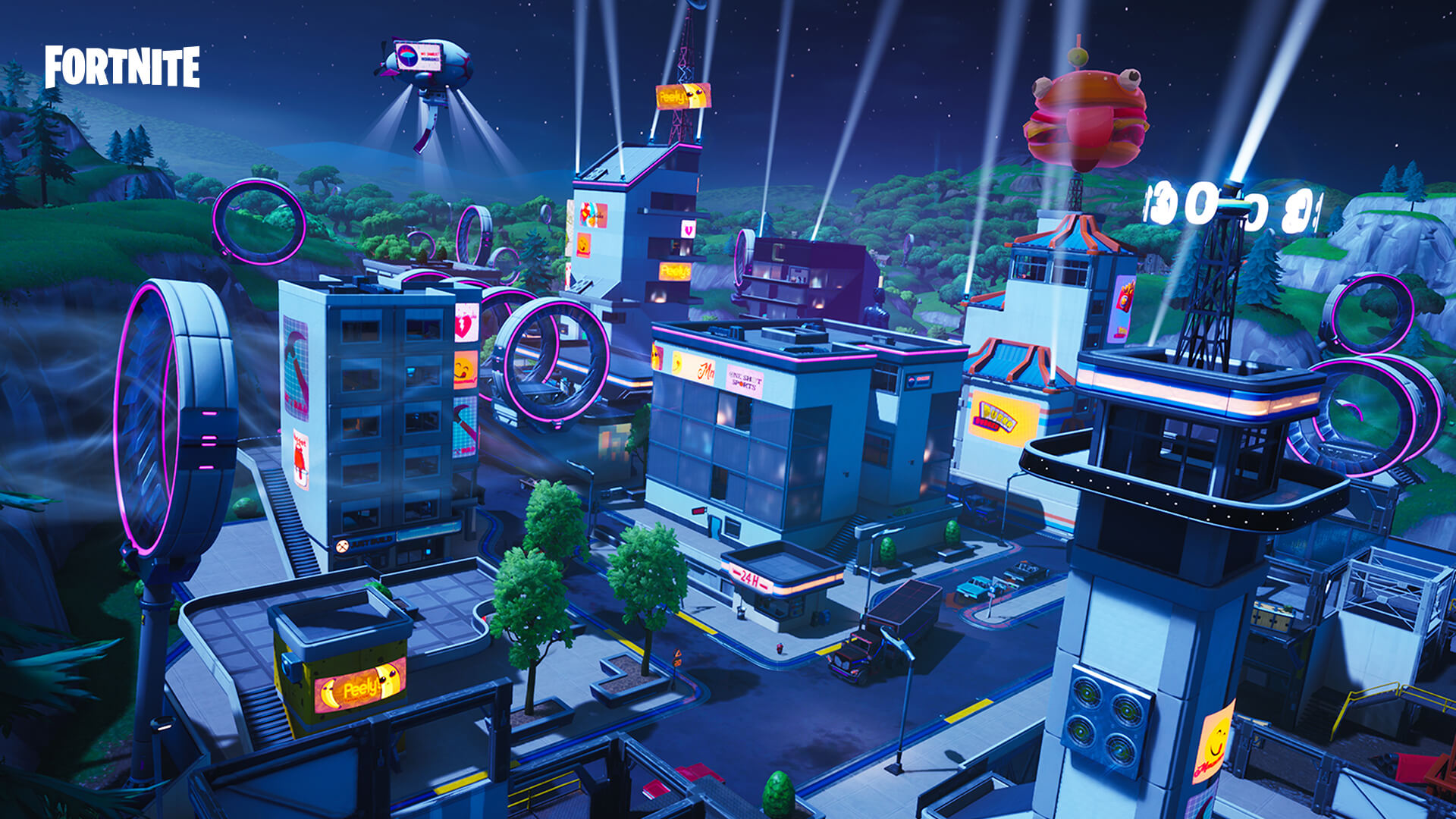 Fortnite season 9 adds wind tunnels and a rebuilt Tilted Towers