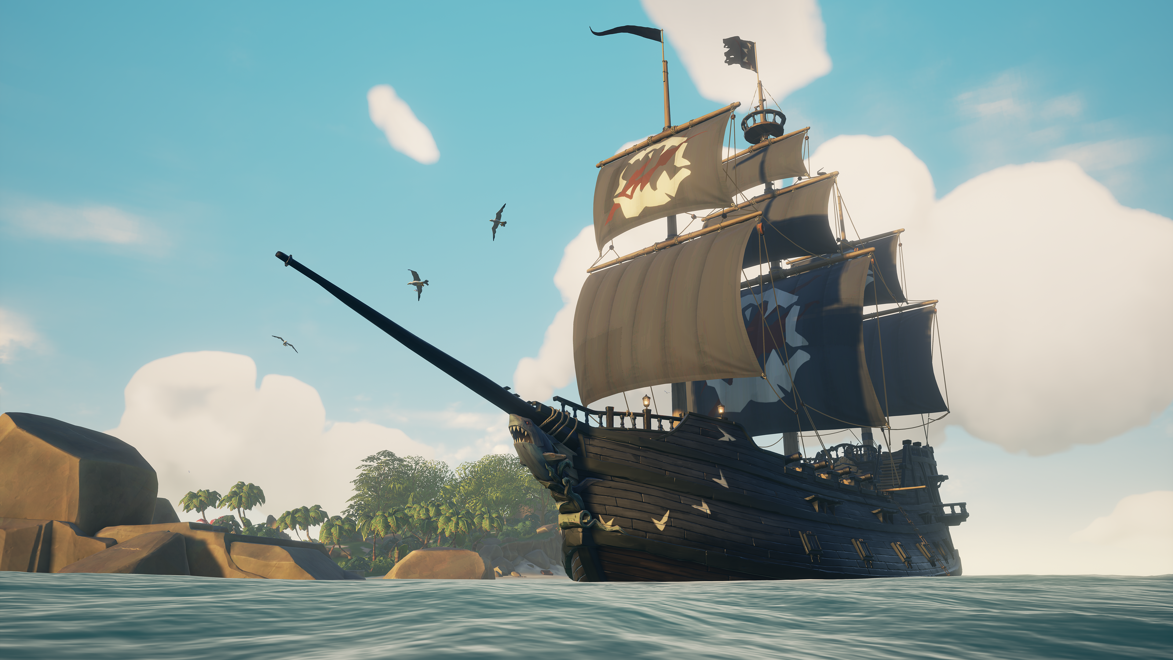 A limited time set of ship cosmetics in Sea of Thieves
