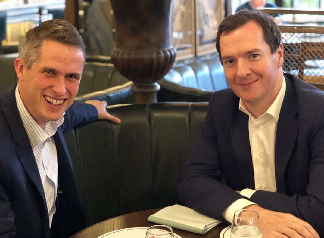 Gavin Williamson, sacked as Defence Secretary by Theresa May, lunches with George Osborne in Kensington